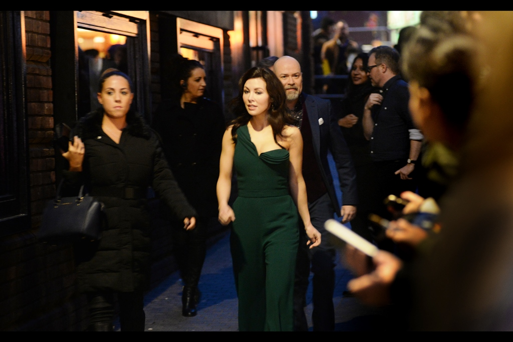 As a result of having photographed (the outside of) numerous London Fashion Weeks, I'd like to think I have an eye finely attuned to avant garde attire and dresses with strange shoulder flourishes. It is also the reason why I conveniently / inadvertently photographed Steven S. DeKnight, director of this movie, walking behind this lady.