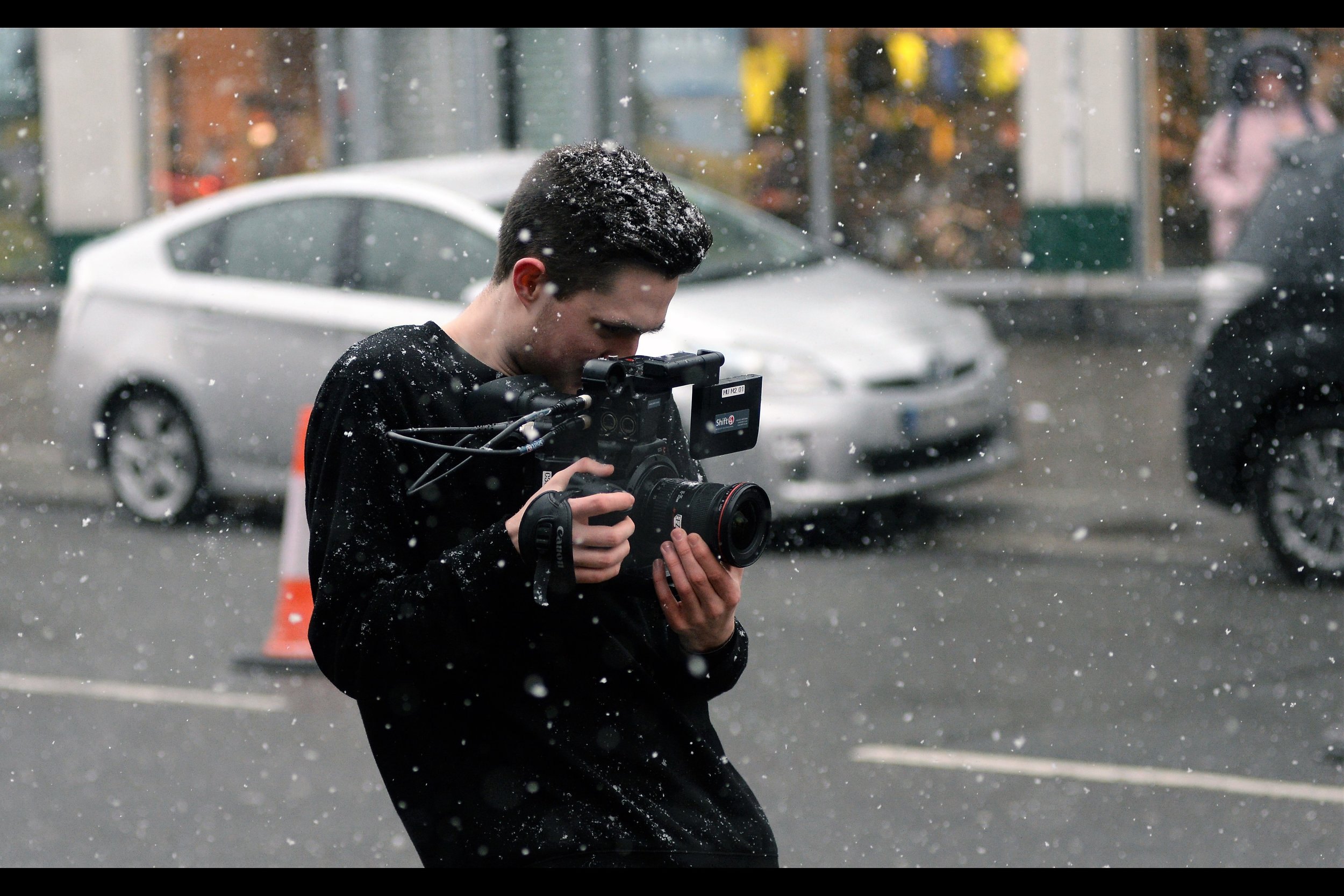 """""""I can't feel the cold, Ruth, because I'm in the zone. I'm so attuned to what I'm doing that near-zero temperatures can not distract me from my life's true calling. That said... what's all that white stuff in front of the camera? it's ruining my pictures...."""""""