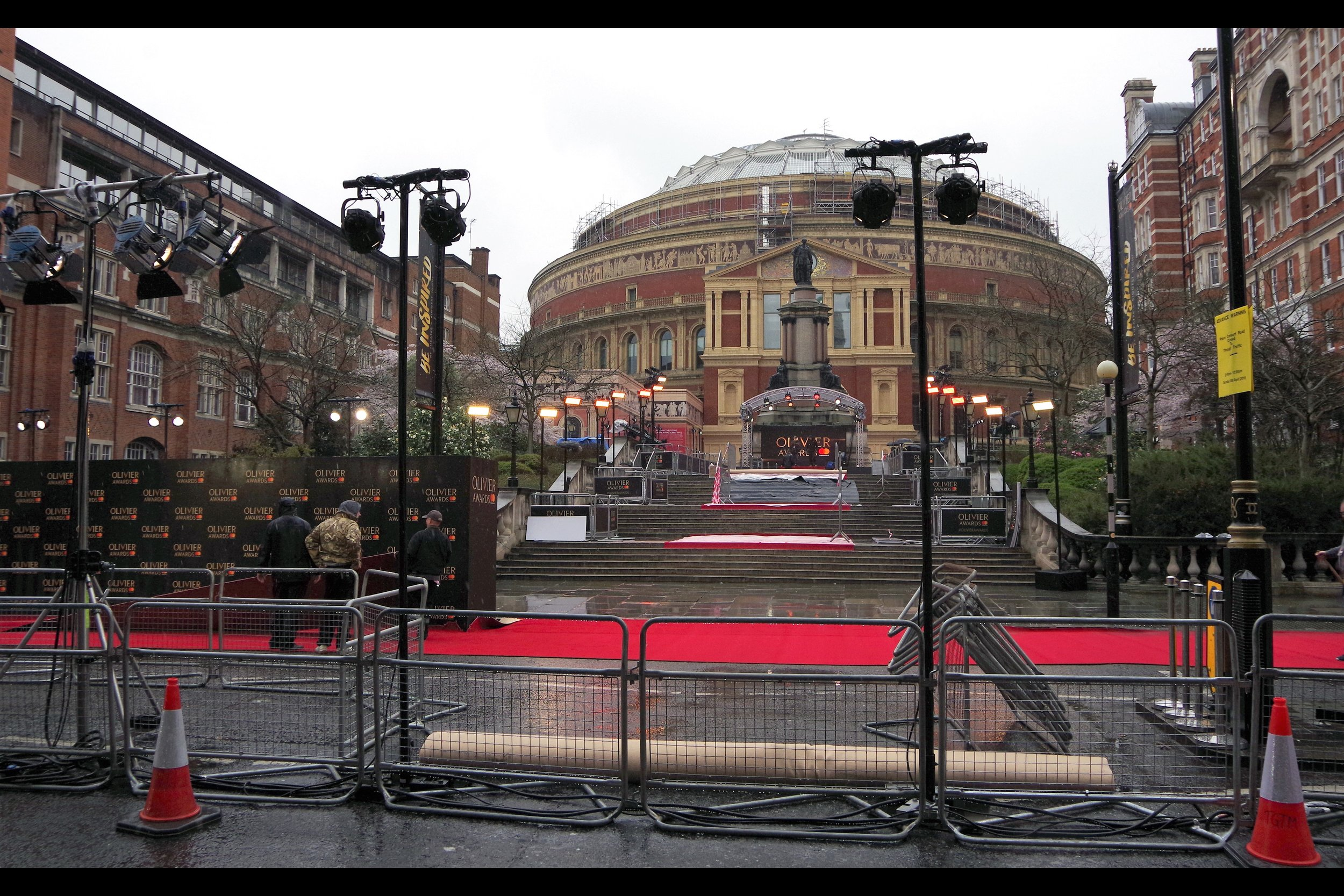 Just like    last year,    the Olivier Awards are being held at Royal Albert Hall. But whereas last year's was a stunning and warm day; today I think I'll be looking for a spot on the stairs just in case The Floodwaters rise.
