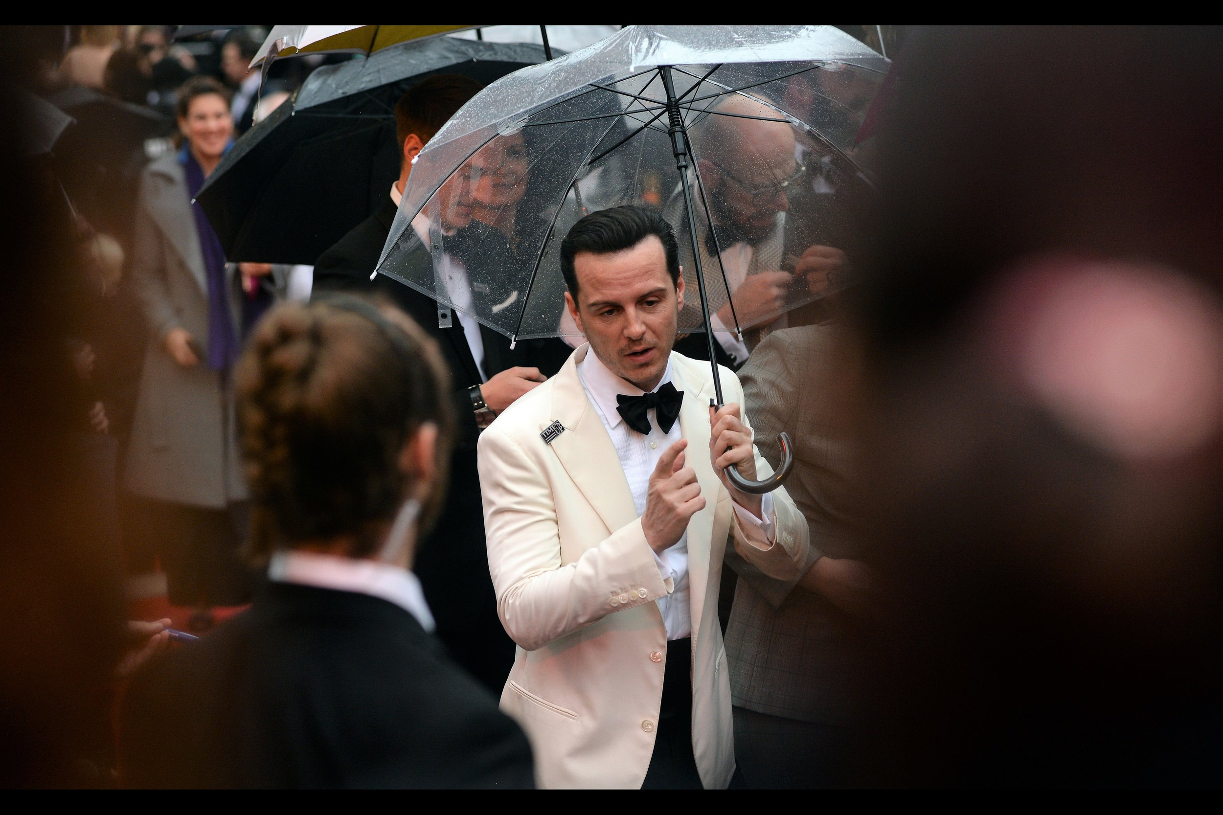 """""""Awww... come on, stop making me sign stuff from 'Sherlock' and stuff where I'm   'C' from Spectre  """"  - Andrew Scott is perhaps best known for both of those things, but on this night he was a nominee for best actor for """"Hamlet""""."""