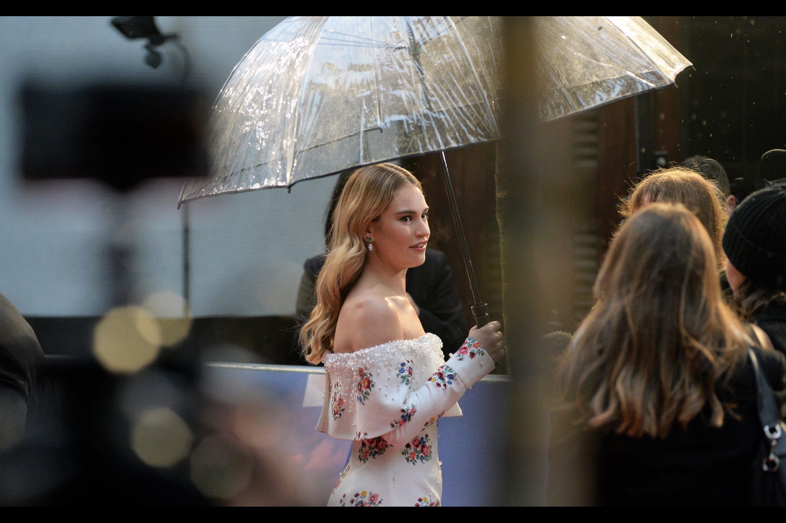 I like Lily James, I've decided. Sure, eye-contact is basically impossible to obtain, but that just makes it all more interesting. Until next premiere, Lily James  (wait... did that come out totally creepy? I didn't mean it to come out creepy)