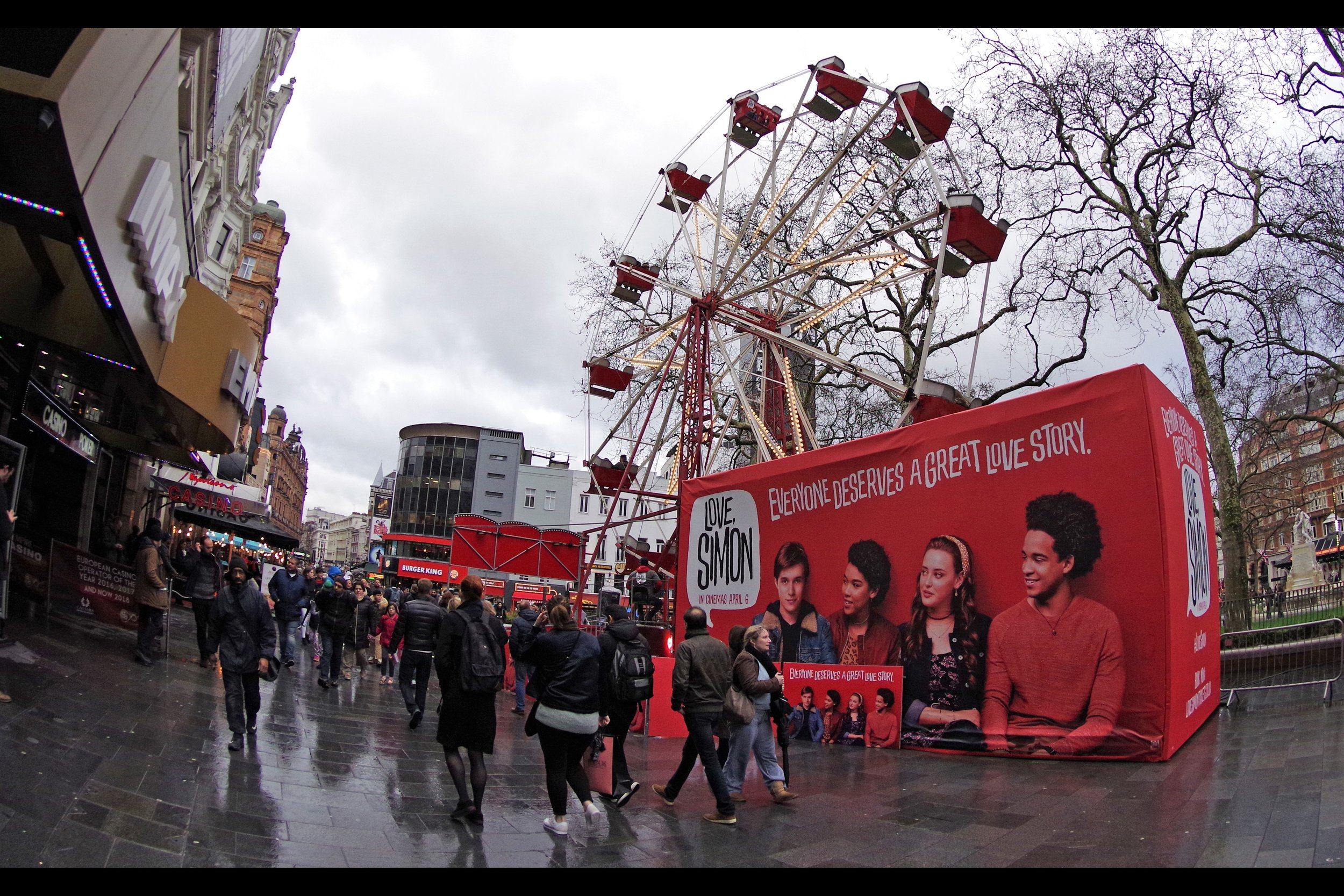 """I've always wondered what the lowest number out of a list of (1) Dealers, (2) Security, (3) Wristbands, (4) Stars, (5) Red Carpet, (6) Barriers and (7) Photographers could be present in order for something to be justifiably called a """"premiere"""". But I think a Ferris wheel can be a substitute for at least two of those things."""