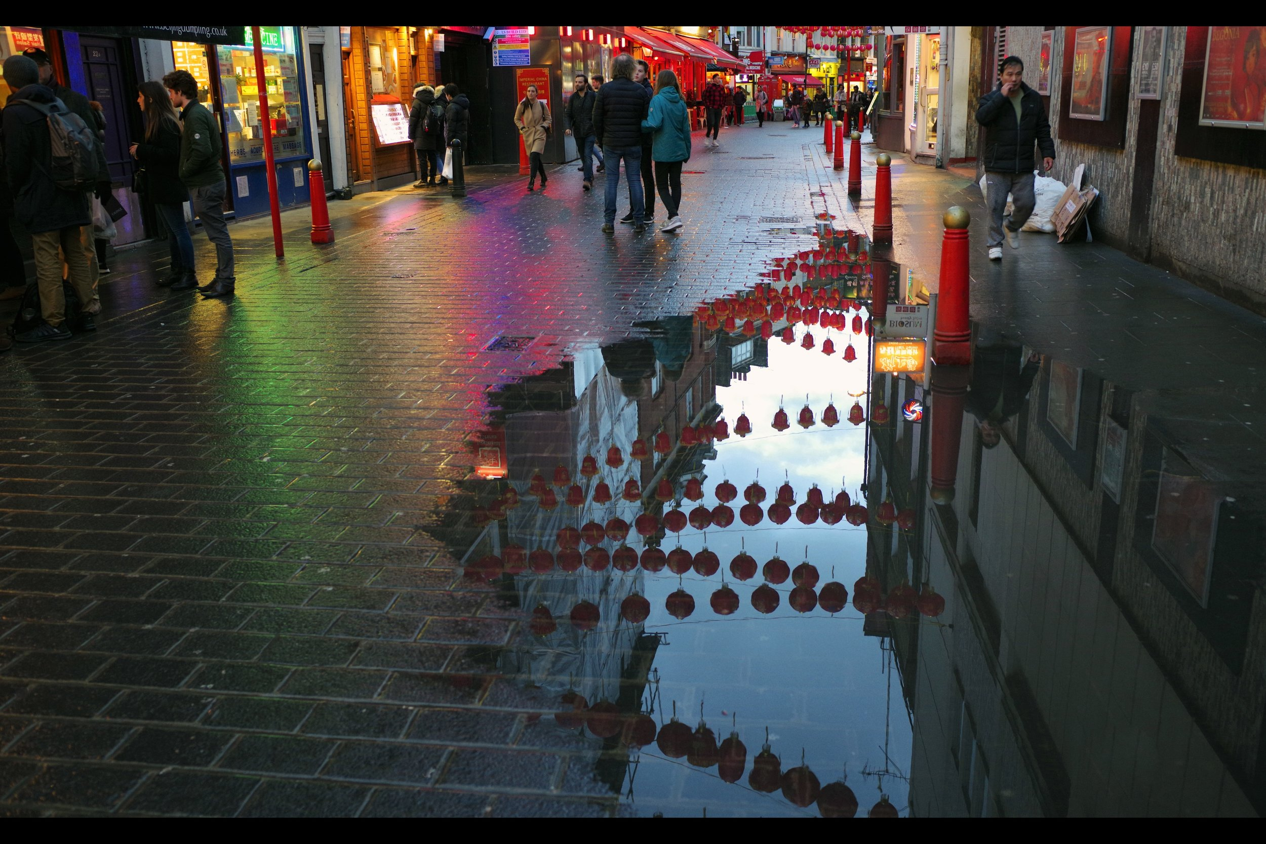 I can always take photos of neon and wet pavement in Chinatown, I guess.....