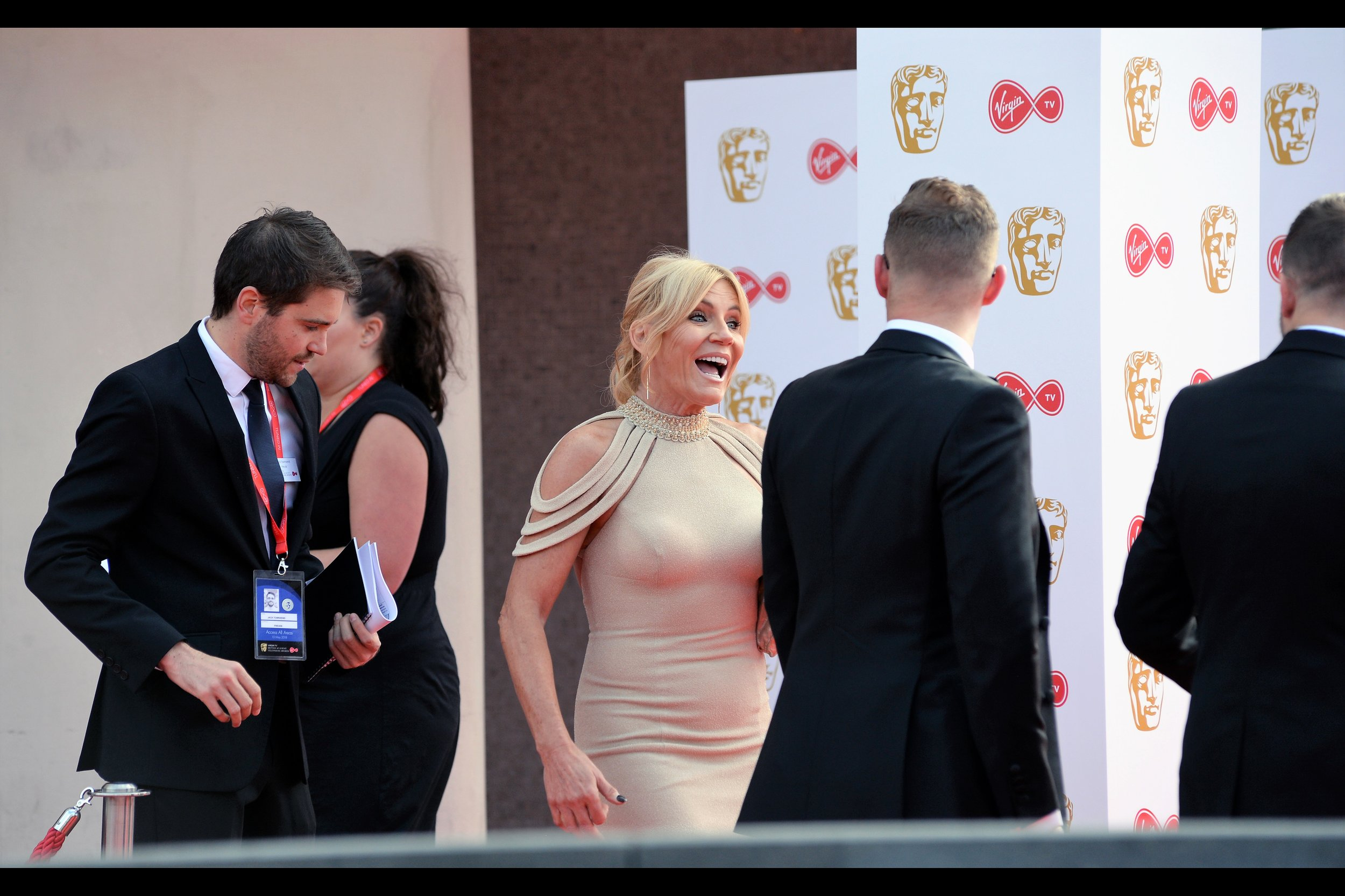 """""""Your hair is good, but other guys' was better"""" . I am assured this is Michelle Collins, but at this late hour I'm not really all that motivated to look online to see what she's famous for."""