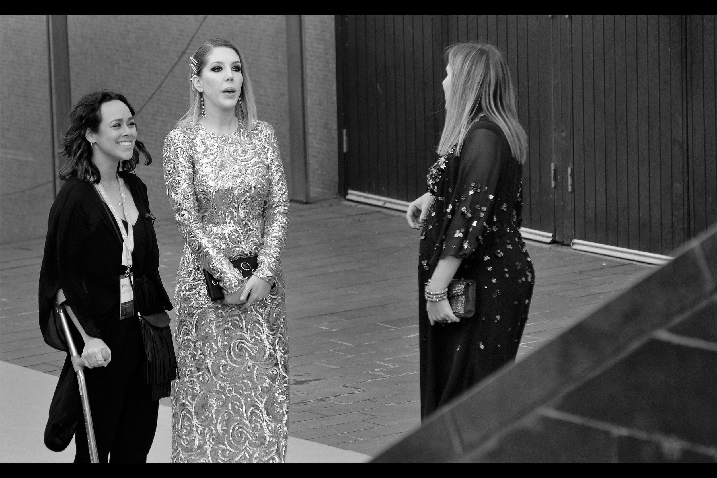 I actually do know of Katherine Ryan - she was in a televised debate I watched over New Years in Australia a few years back (true - if rather uninteresting - story). Her dress looks more like something that was wrought by an ironsmith than sewn.