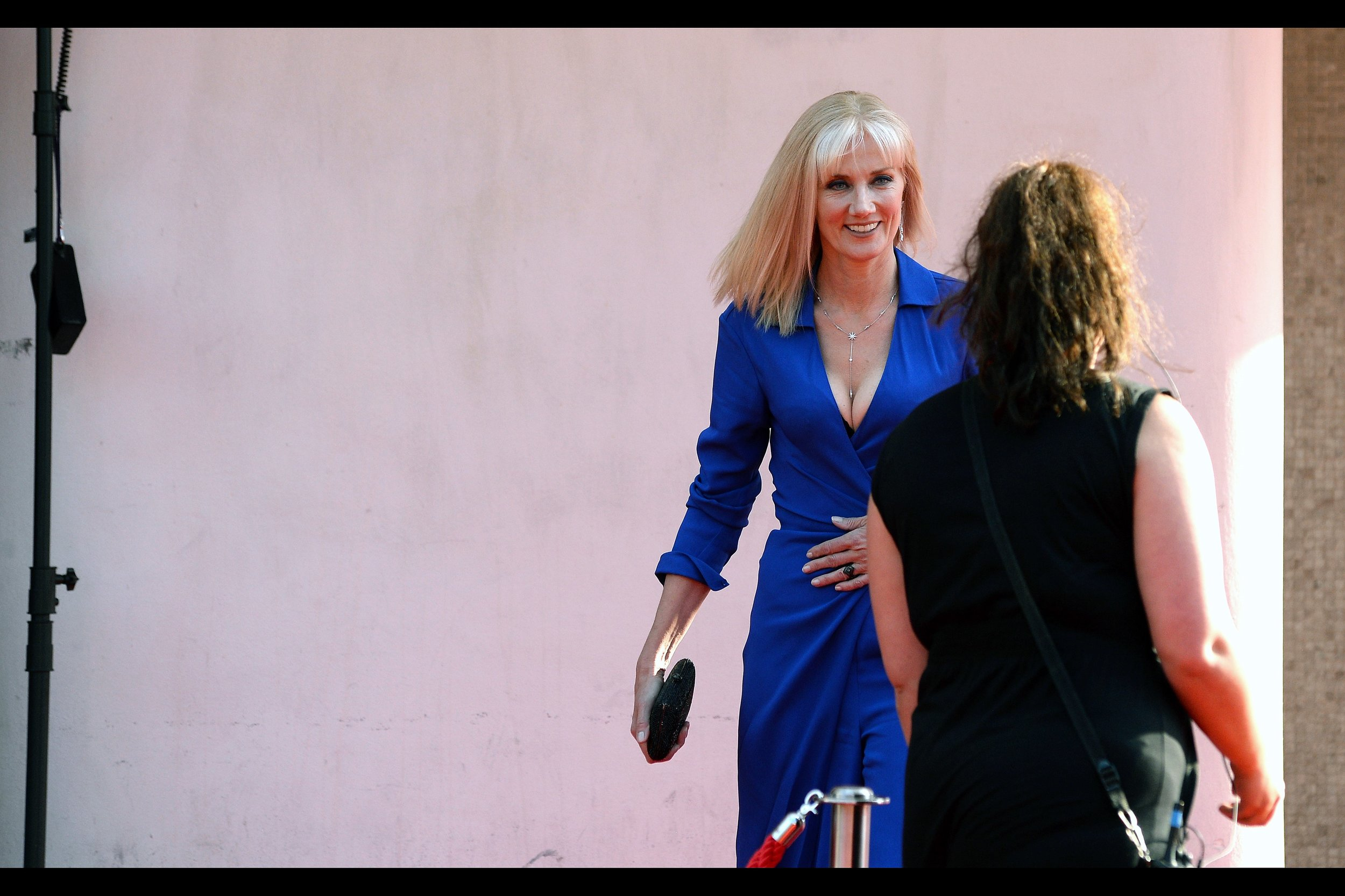 """Joely Richardson.... she was in the Roland Emmerich's Shakespeare conspiracy movie """"Anonymous"""" as well as having a small role in David Fincher's """"The Girl With the Dragon Tattoo"""". Her dress probably wasn't in both... or either of those films."""