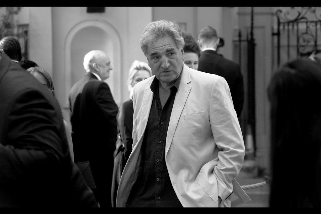 """But I like to slouch on red carpets. Yes, even when they're blue""  - Jim Carter was in some 52 episodes of Downton Abbey, and also the voice of the batshit bizarre 'Cogman' in last year's    ""Transformers : The Last Knight""   ."