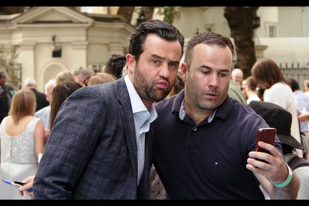 """Wait... I just gotta see what he does with that free kick then I'll get back to you""  - Daniel Mays (left) was in Disney's<TM> Star Wars<TM> Rogue One <TM> A Star Wars <TM> Story, which is a movie and premiere I prefer not to talk about, as well as    ""Dad's Army""   , which I'd also prefer to forget."