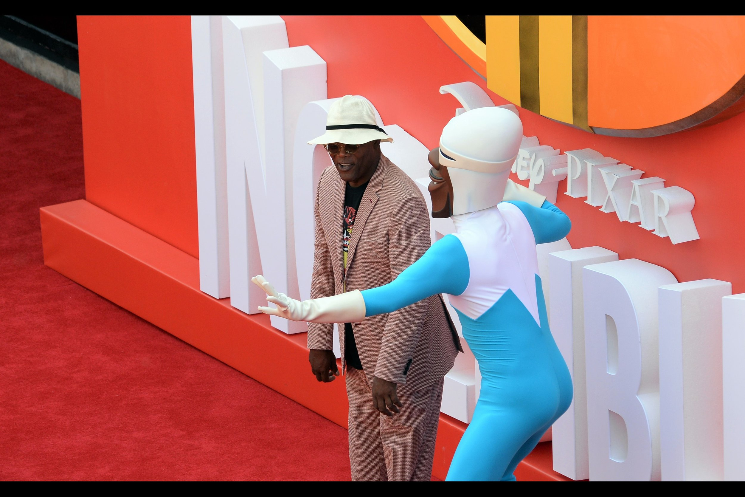 """""""Okay. Fine. Maybe your butt does look better in the blue suit than mine would. But this movie is fully animated, so..."""""""