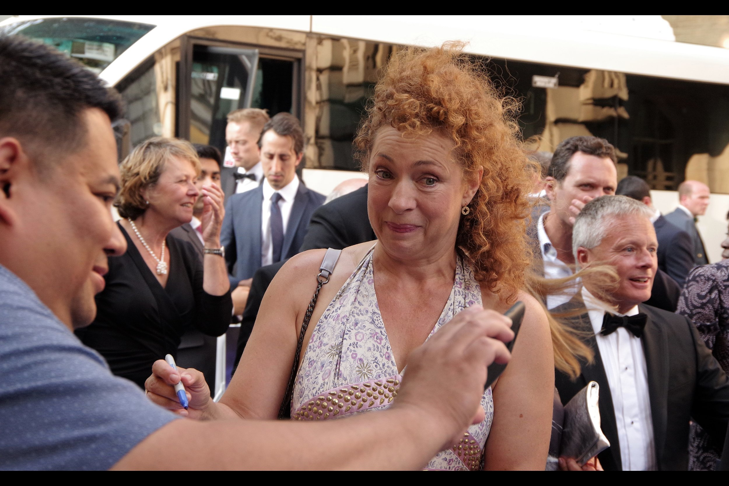 """That might be me. Alternatively it might not be""  Alex Kingston is best known (on imdb) for having played the character Elizabeth Corday across over a decade of the TV Series E.R., as well as the character ""River Song"" across 17 episodes (and 7 years) of Dr Who."