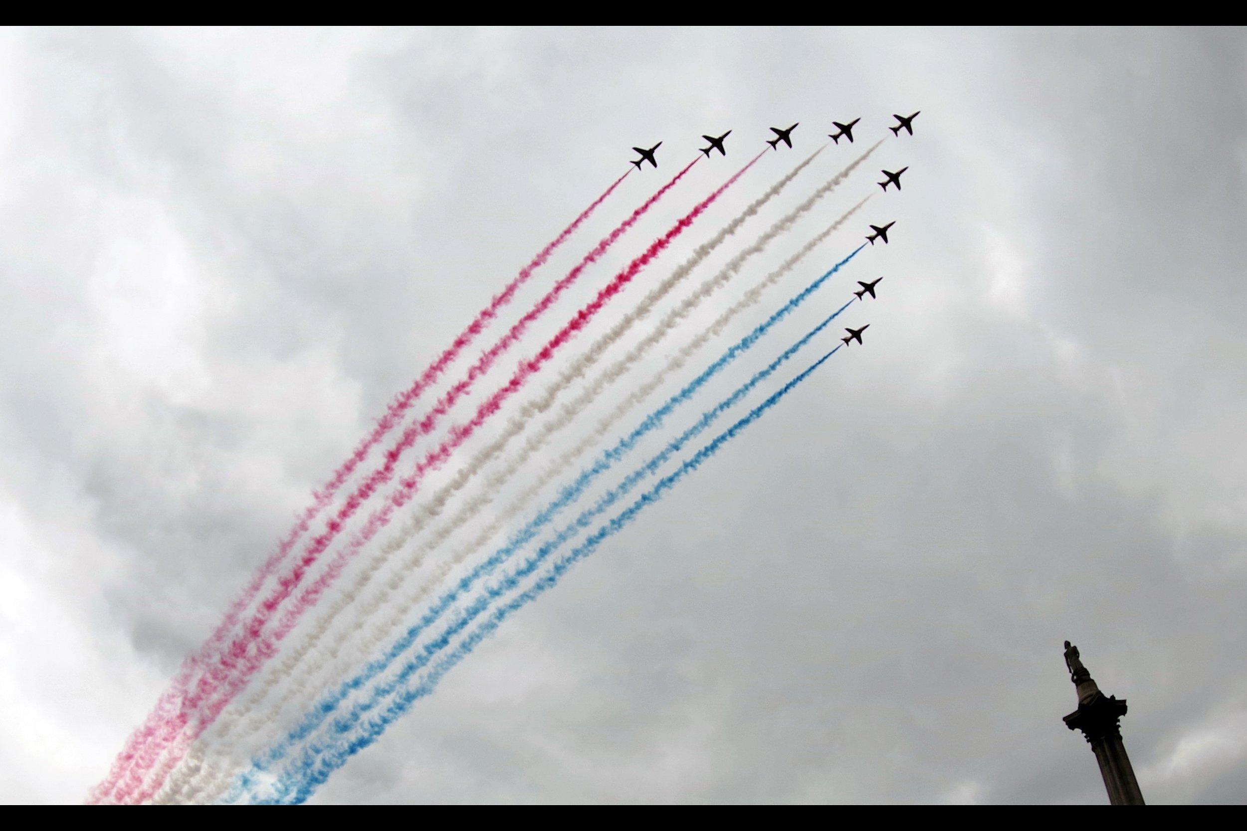 Red Arrows RAF100