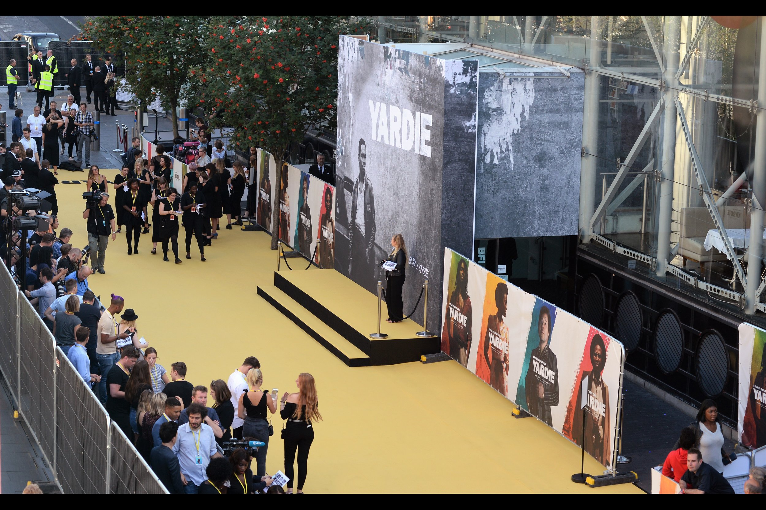 I generally prefer to be in a public pen for premieres, but in this case the alignment of the stage and media meant that the best place to photograph the premiere... was outside the premiere.