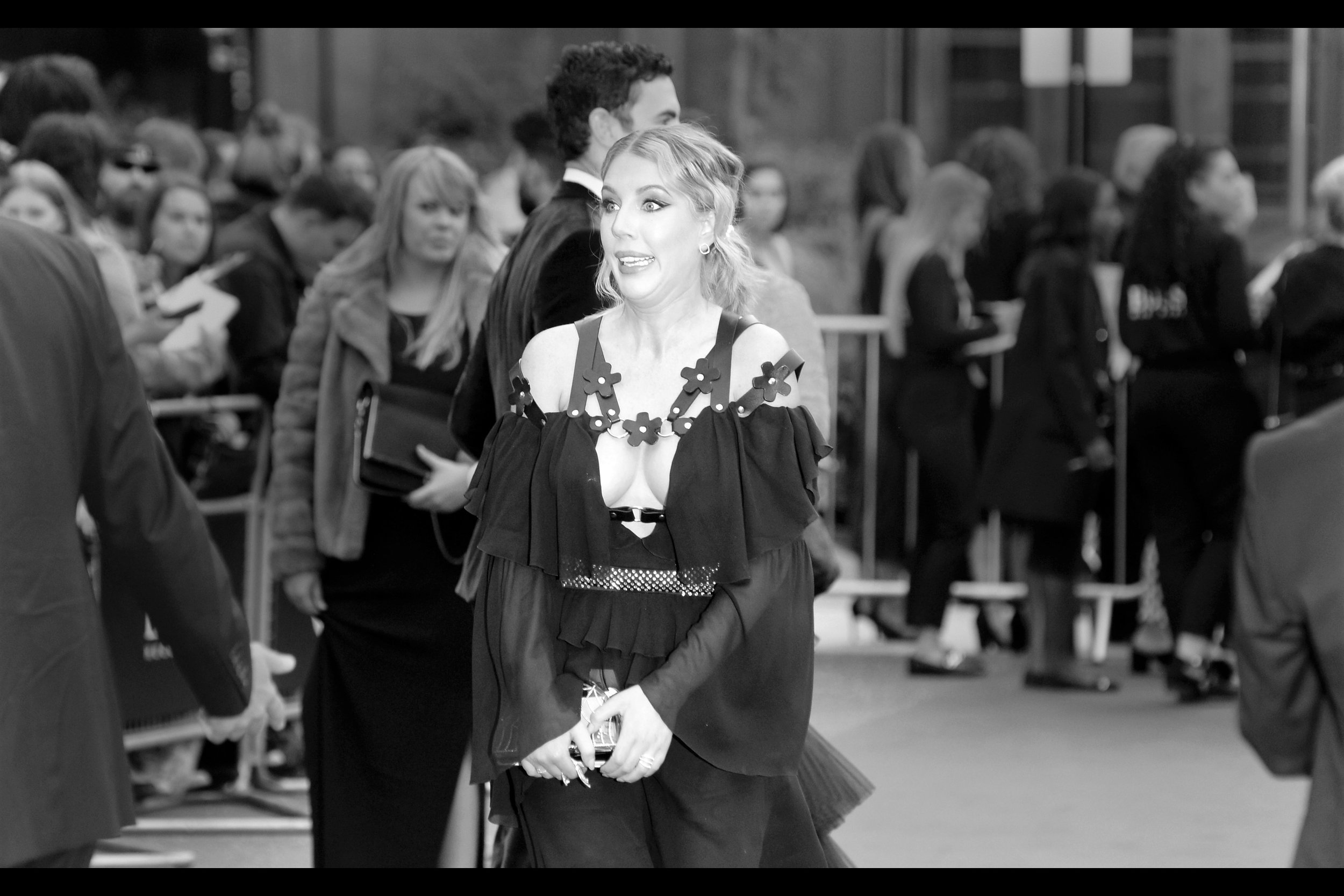 """I think I saw Sacha Baron Cohen. Also, no : I am not Sacha Baron Cohen"" . Perhaps, but then again would Sacha Baron Cohen admit to that? If it's not SCB, it might be comedienne Katherine Ryan, who I last photographed at this year's    TV Baftas."