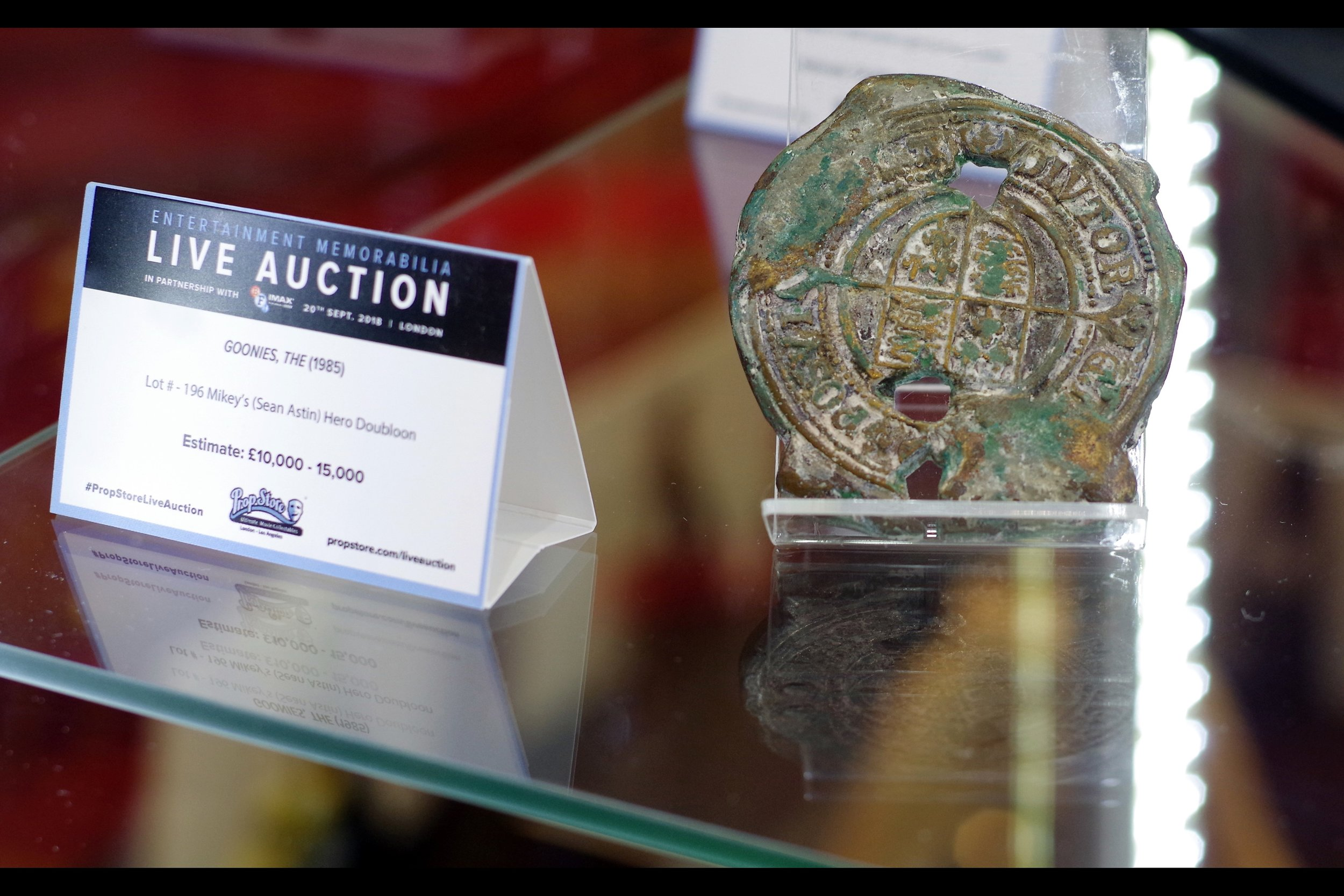 """""""A lot of work went into making it look old. If it was in better condition it would be cheaper I'm sure...""""  Goonies Medallion. Winning bid: £25,000"""