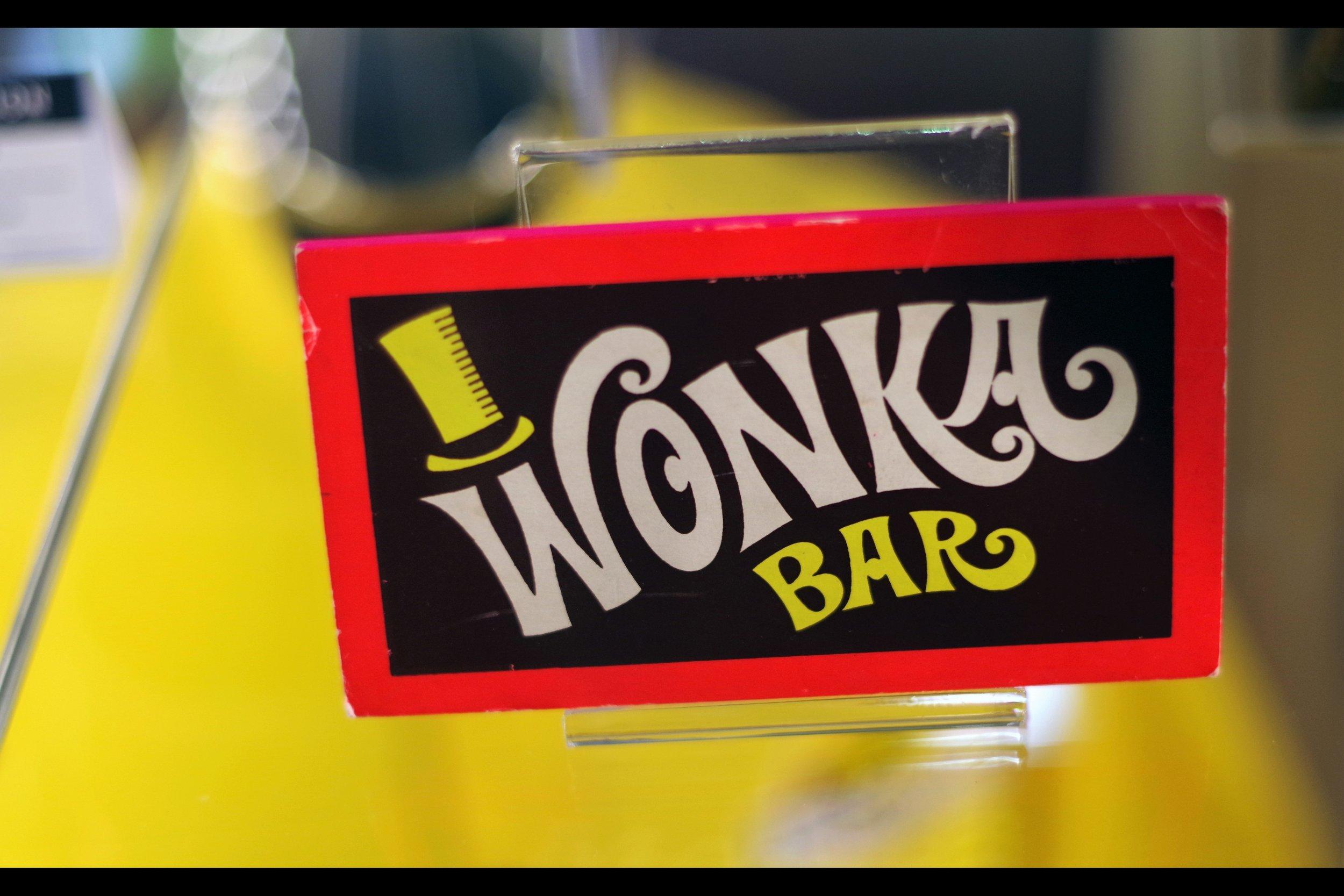 Wonka Bar. Starting bid: £5,000.  Inedible. W inning bid £8,000