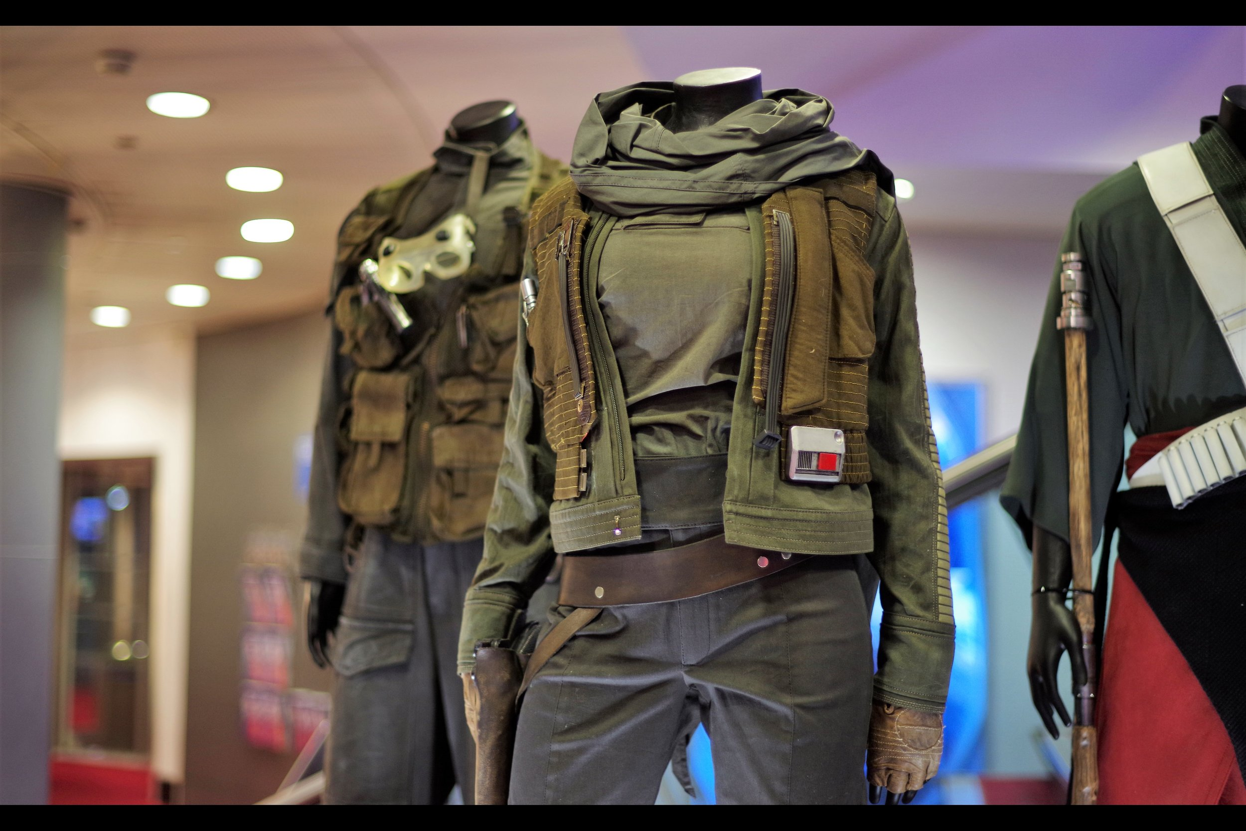 """""""Remember that Star Wars movie where everyone died and that's why it wasn't important that you really got to know or remember or like them? Well... .we hope you remember and got to like them!""""  Jinn Erso's costume from the PROMO tour of Rogue One. Winning bid £19,000"""