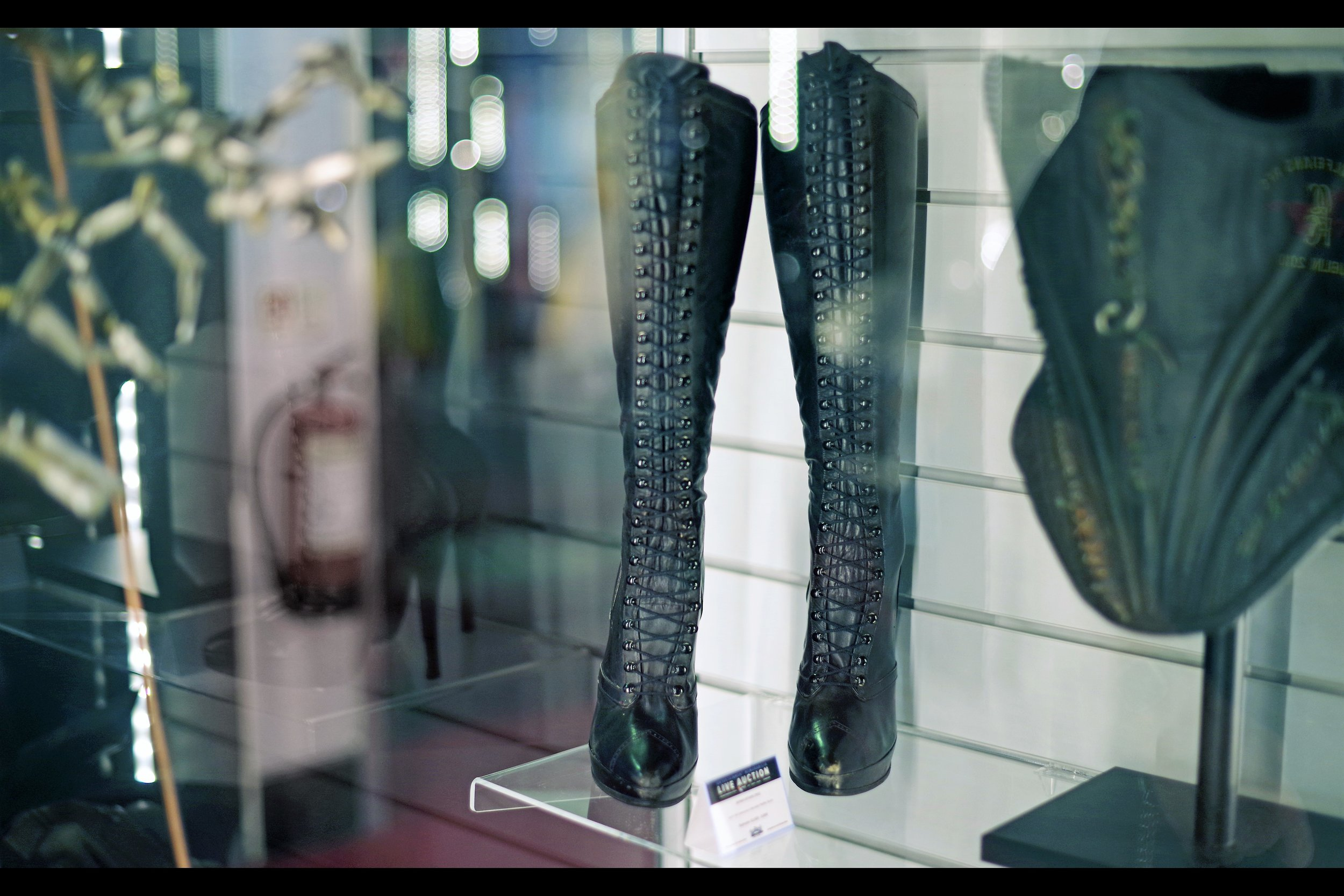 """""""There's a power-laces version of these, but they deleted that scene""""  Catwoman's boots from Batman Returns. Winning bid £5,500"""