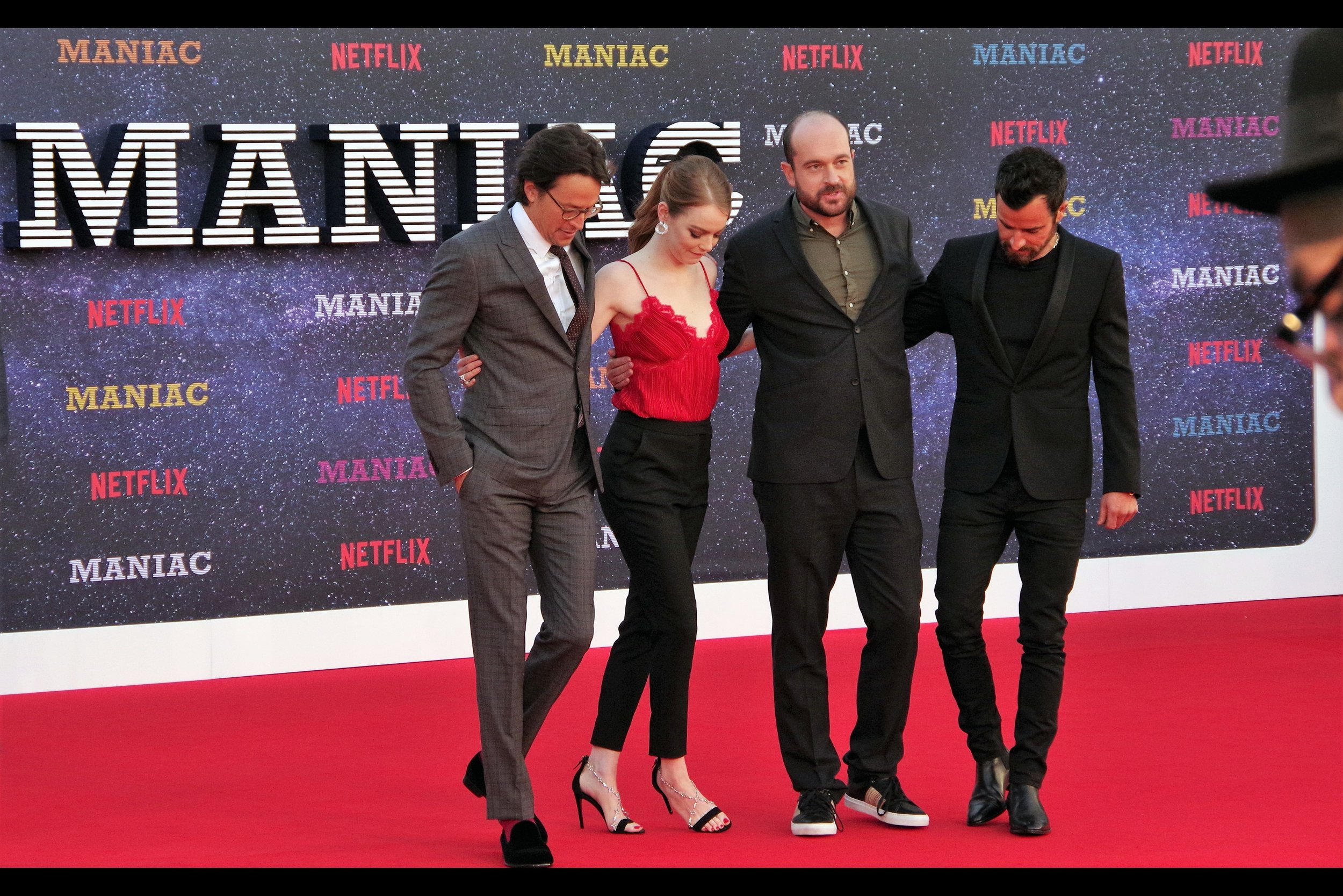 "It's a group shot. Or a hoedown. Or a red carpet assembly for a Netflix series called ""Maniac"""