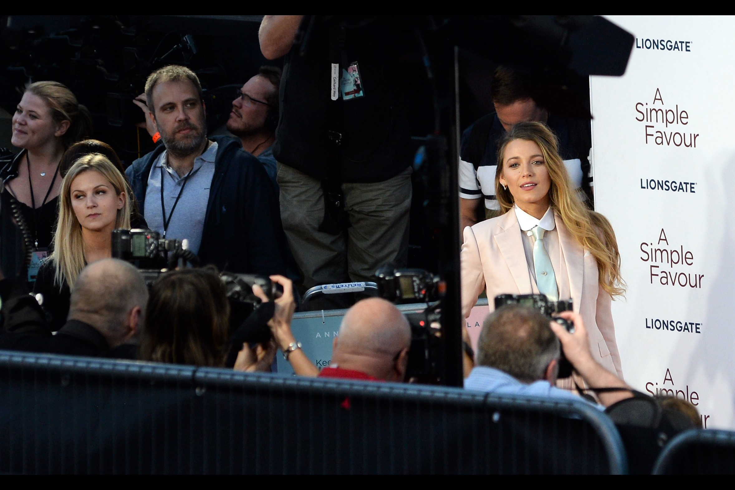 While my brain is still reeling from the circular reasoning chain of the prior comment, I appear to have gotten more eye-contact and a HALF-SMILE from Blake Lively! …. and you know, a man could compose epic poems about half-smiles from Blake Lively… and they'd probably be awful, but that doesn't mean they wouldn't be sincere.