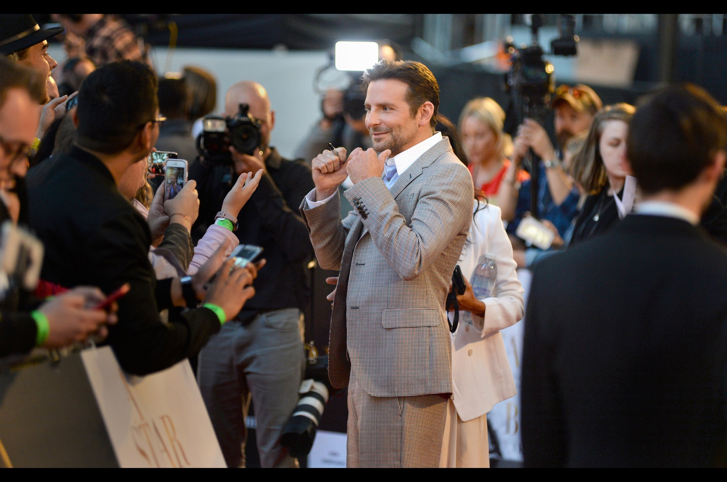 """Who's got two thumbs and is feeling pretty good right now? This guy!!""  - along with partnering with a tree in Guardians of the Galaxy, Bradley Cooper has four Oscar Nominations, was in all the Hangover Movies AND was a voice on the phone in ""10 Cloverfield Lane"""