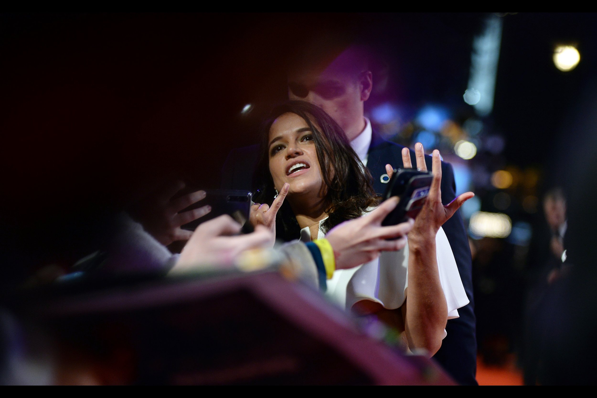 """""""I'm sorry I lack the third arm your requested gang sign appears to require, but I can endorse your twitter feed or something if you want?""""  - Michelle Rodriguez probably signed and interacted more than anyone from the cast (with Hans Zimmer and Daniel Kaluuya close behind)."""