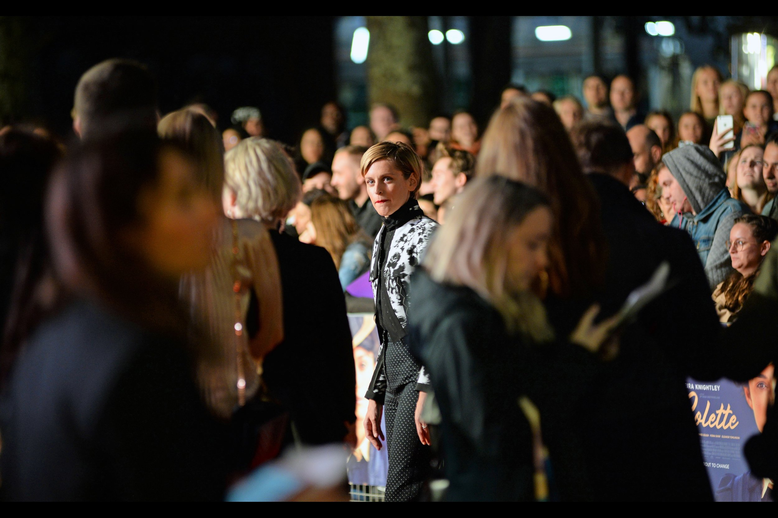 """Denise Gough arrives, and in about 20 seconds so does the rain. Of her imdb entry, the movie """"'71'"""" ( 'Protective Woman at Riot' ) and PS4 game """"Mass Effect Andromeda"""" ( 'additional voices' ) are the two credits I'm most familiar with."""