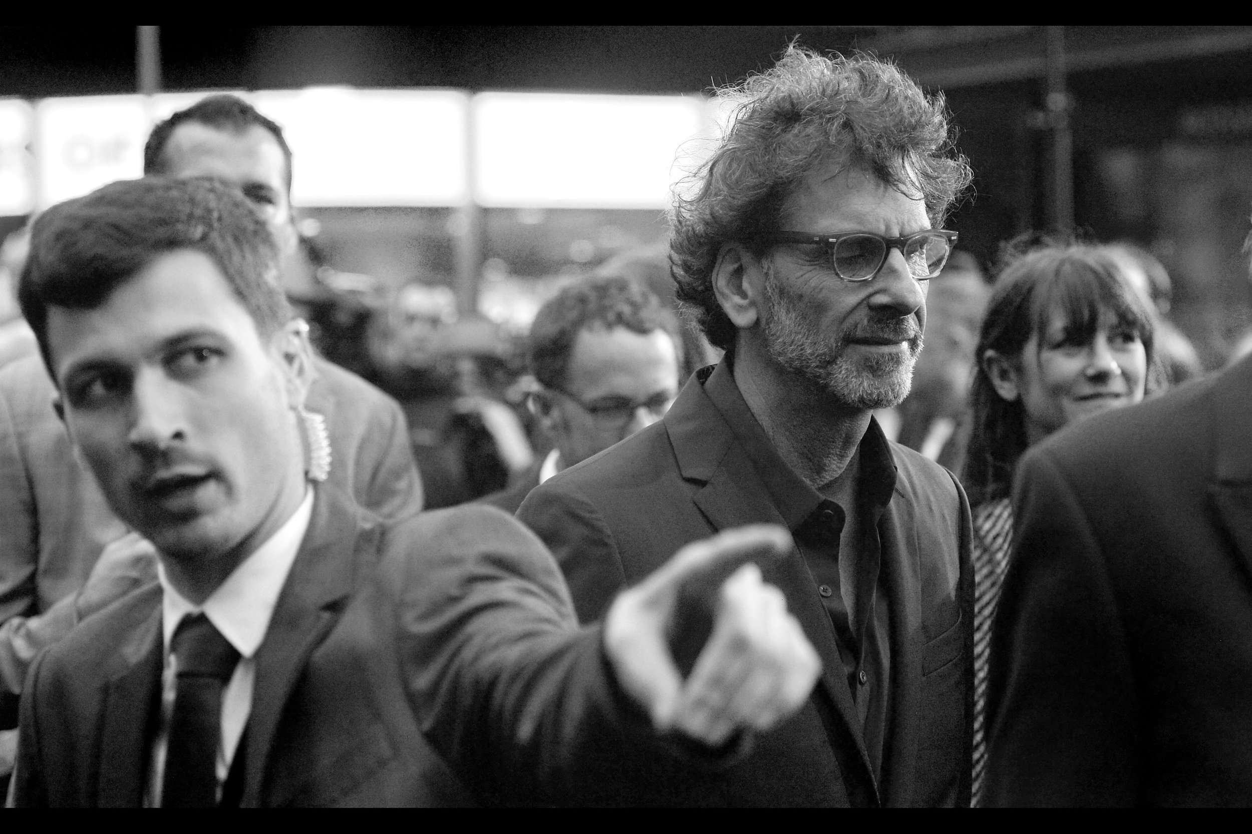"""""""Joel Coen is behind me and moving fast…. but there's a really nice steak place just around that corner you might want to check out."""""""