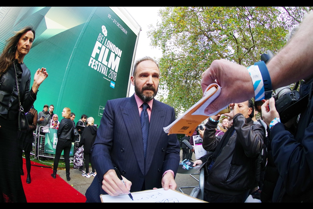 """""""Is that a ransom note you want me to sign??""""  Ralph Fiennes is the director of this film. He also directed    The Invisible Woman   , but acting-wise he's been in both Harry Potter (as Voldemort) and James Bond (he's the current incarnation of 'M' - in both    Skyfall    and    Spectre   )"""