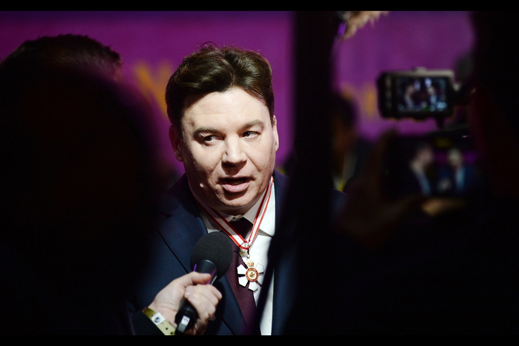 """Not one of you so-called journalists has asked me about the medal I'm wearing around my neck. Now I ask YOU - do you think I'd be wearing it if I didn't want to be asked about it??""  Mike Myers is probably still best known for any number of roles in the Austin Powers movies - Austin Powers, Doctor Evil, Fat Bastard…whatever the villain in that third movie was called…"