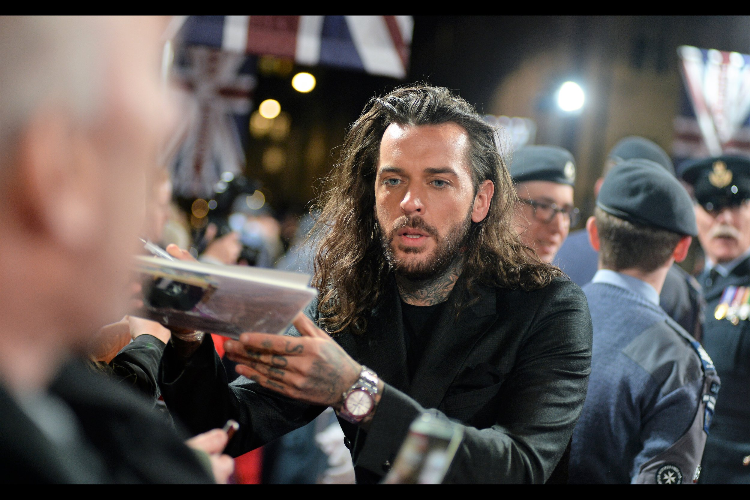 Just so you know, if rumours are true and the premiere of Aquaman coincides with the O2 Arena concert of film composer Ennio Morricone I already have tickets for, I'll be recycling this as a photo of Jason Momoa and faking that journal. For now, though, he's Paul Wicks. (Who?)