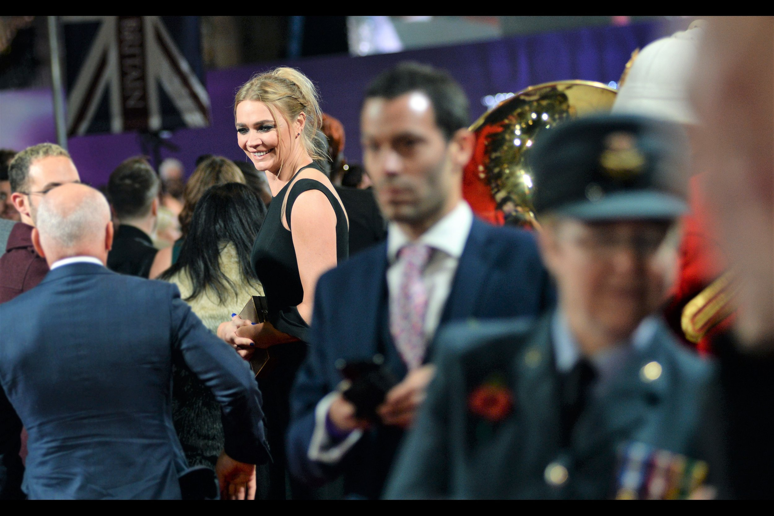 I think this is model/actress/race-car driver Jodie Kidd? (My knowledge of old episodes of Top Gear might exceed mine for Proud British people…)