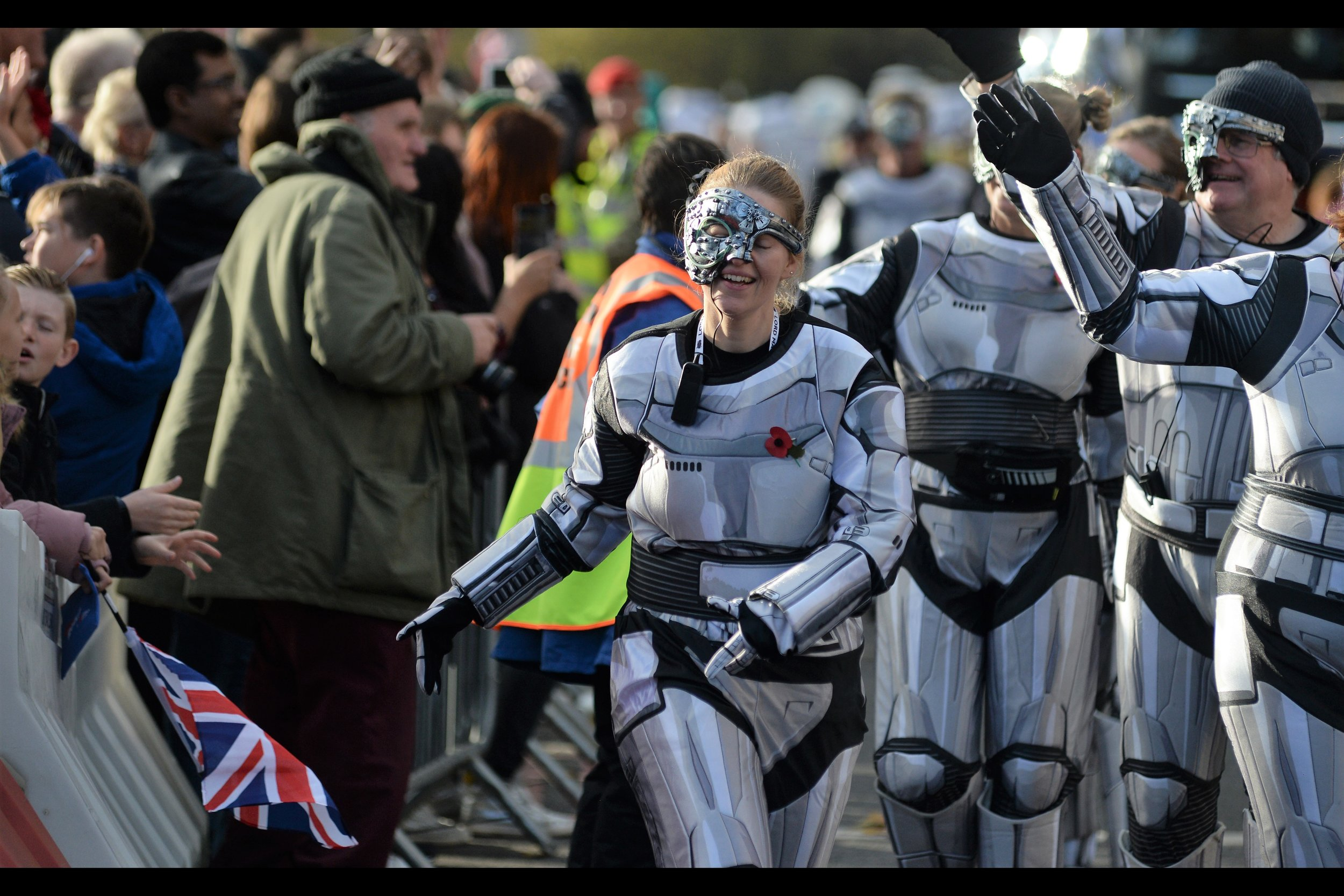 The worshipful company of cyborgs considers any raised hand, even for a high-five, an act of aggression that will be met with force.