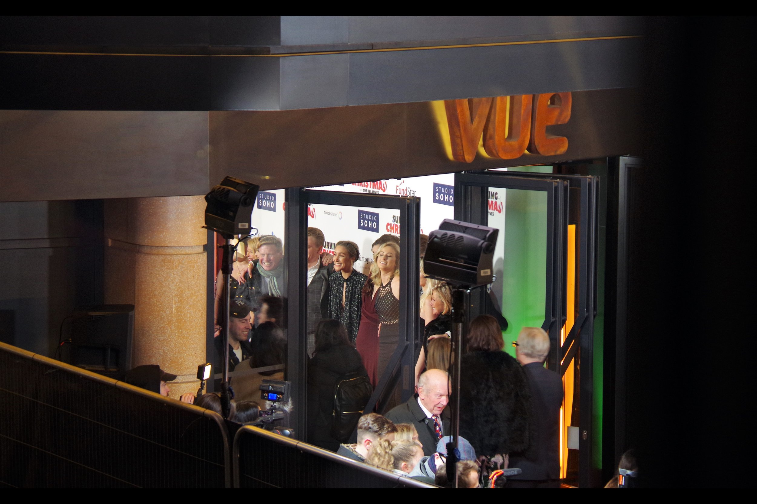 Meanwhile the interior posing board of the Vue cinema contains a row of people I didn't notice walking on the red carpet. Then again, there's a remote chance I might have been momentarily distracted for a few moments.