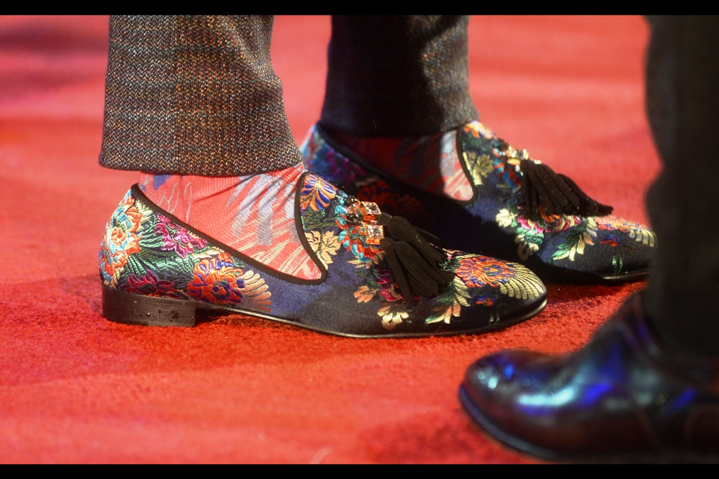 Robert Sheehan's shoes might be slightly more stylish than my 'dangerous on slippery ground' Sketchers… but I'm pretty sure they're just as waterlogged.