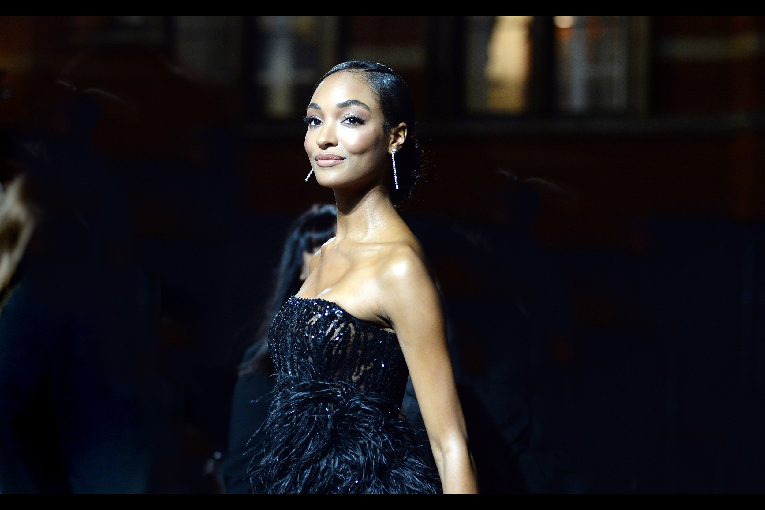 Not pictured : the train of Jourdan Dunn's dress.