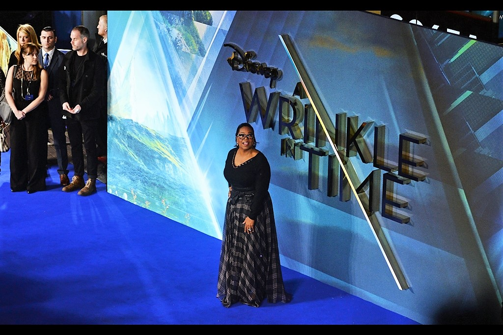 March 13th. It's Oprah Winfrey! At the    'A Wrinkle In Time'    premiere.