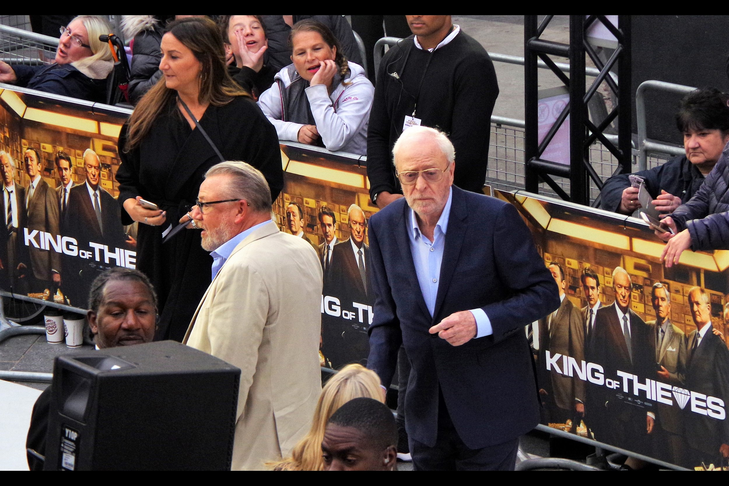 "September 12th : I had to leave a premiere at the halfway point to go to a separate event nearby, for    ""King of Thieves""   ."