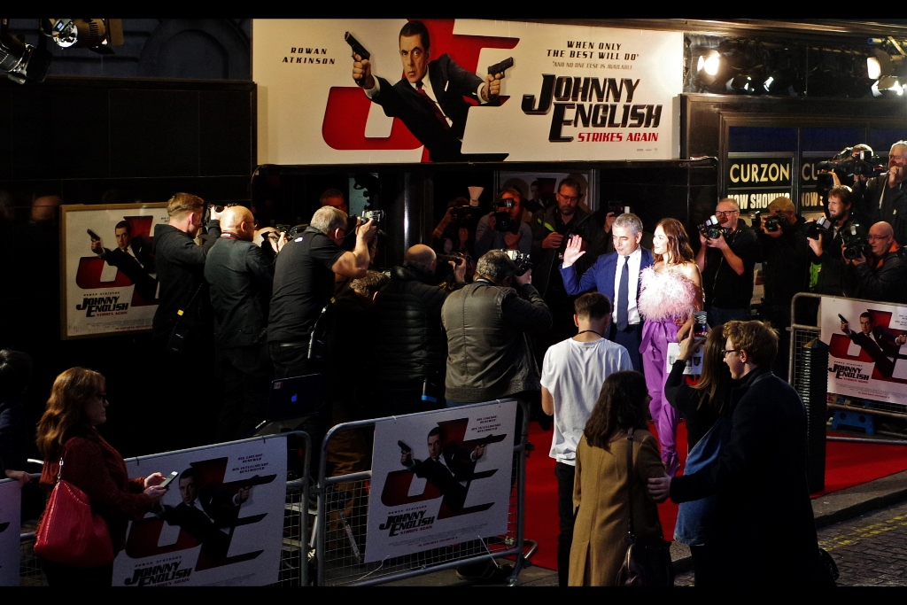 October 3rd : The third    Johnny English movie    gets a 'we didn't close down the road' premiere.