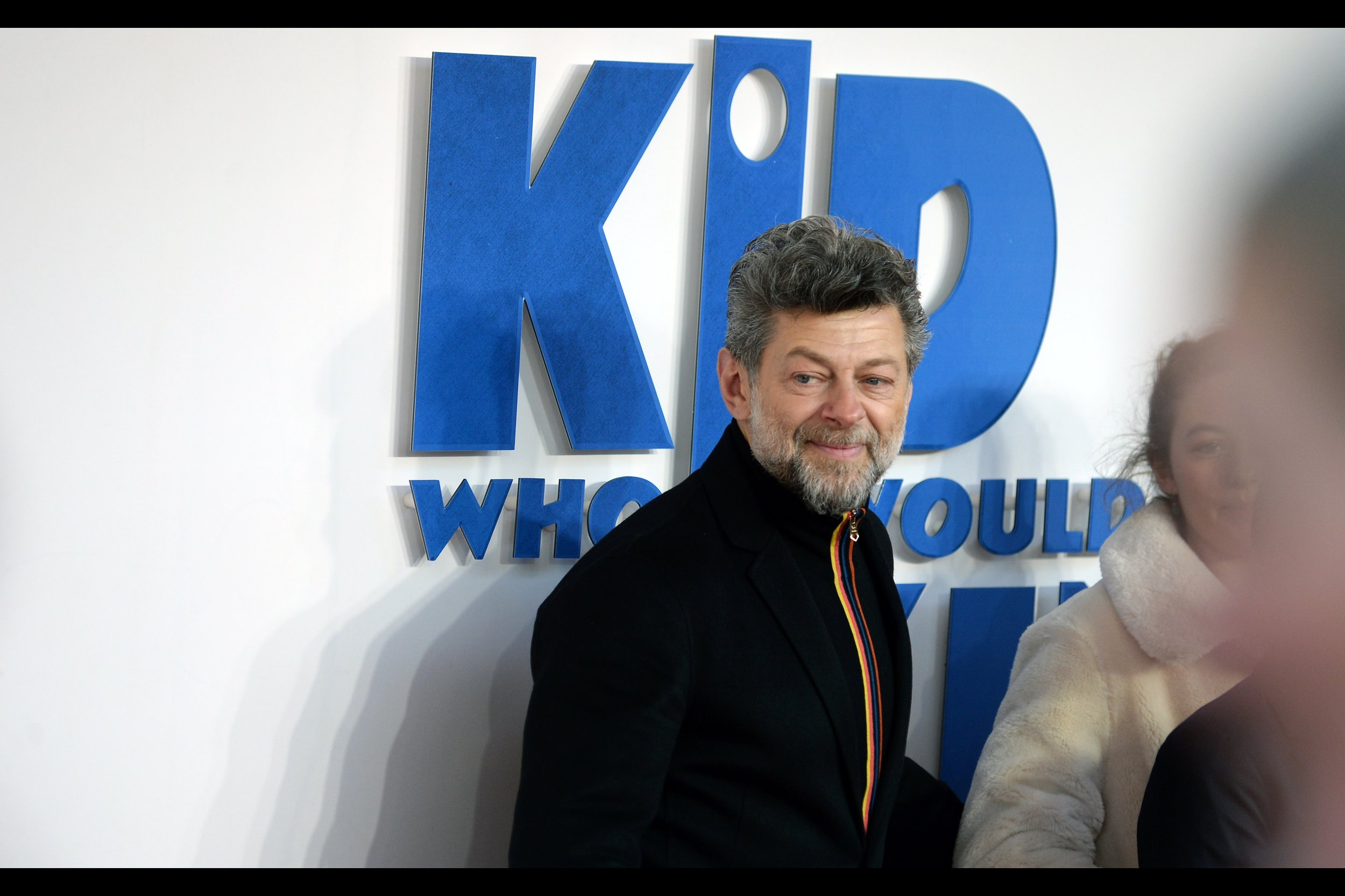"""It would be incorrect to say I had no input into this movie….""  Andy Serkis was Gollum in Lord of the Rings / The Hobbit, Ulysees Klaw in two Marvel films, Snoke in two Star Wars films and he directed 'Breathe' and 'Mowgli'. His attendance here, however, is due to his son, who is in this movie."