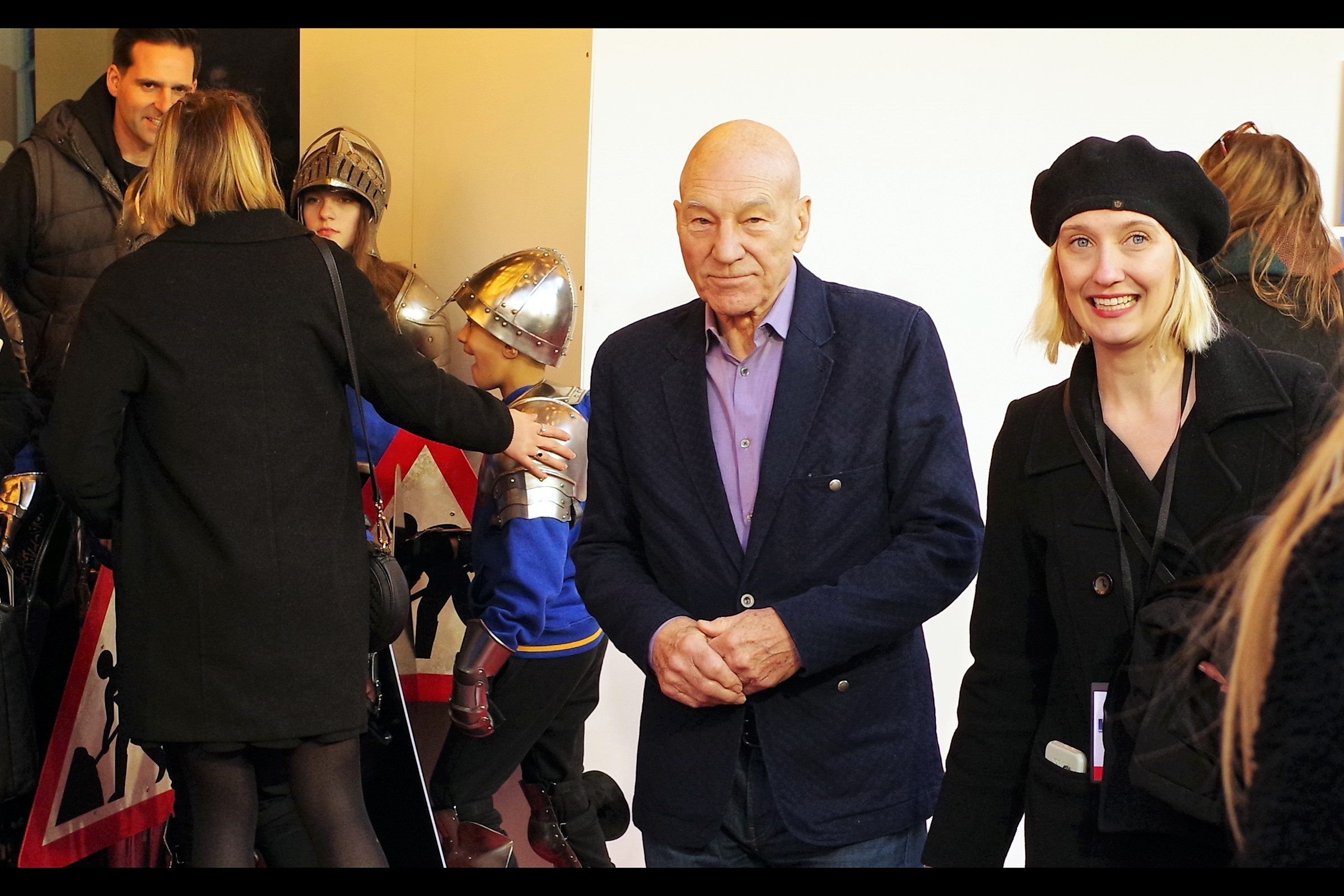 It's Patrick Stewart… and the matter of the five dollars he still owes hangs uncomfortably between us.