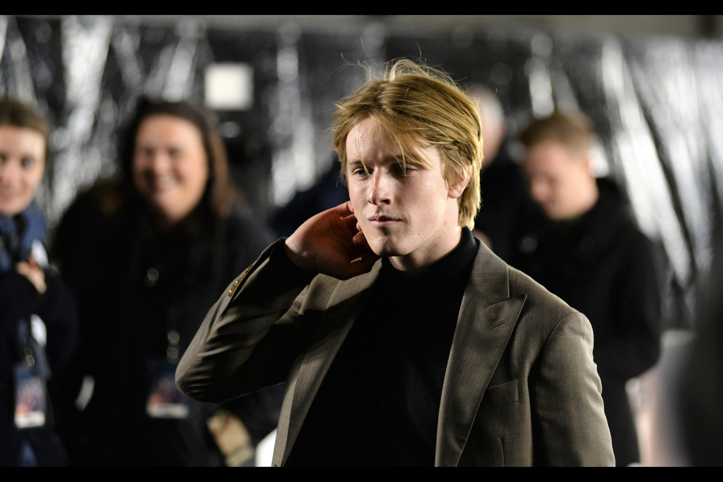"""I saw the pretty girl do a pose that went a bit like this and it worked for her… but I probably should have practiced it more…""  - Louis Hofmann is also in this film."