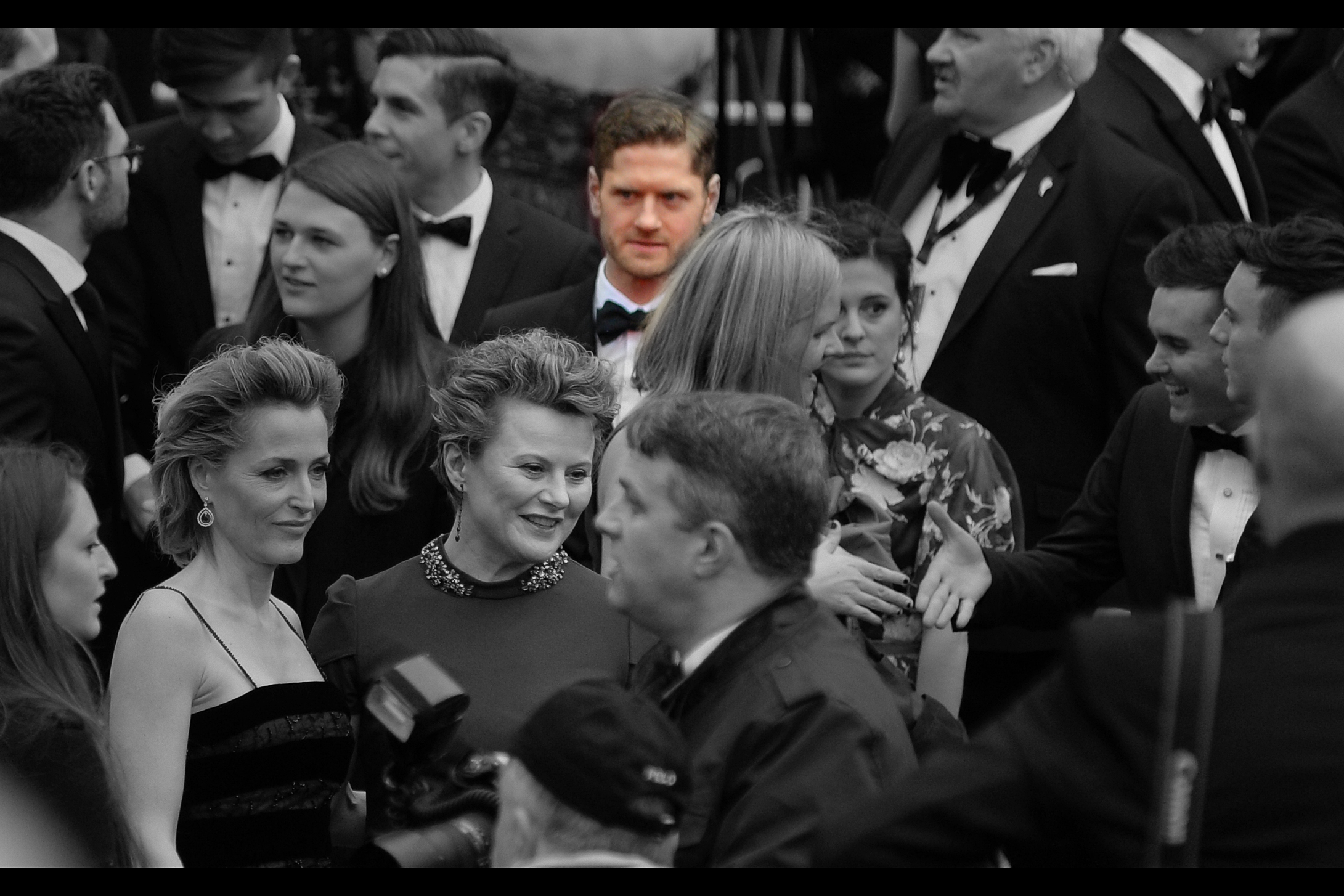 "A few frames later in the same rapid 10-frame-per-second burst, and the blurry figure in the back may just be  Kyle Soller , who won  Best Actor  for ""Inheritance"" on the night."