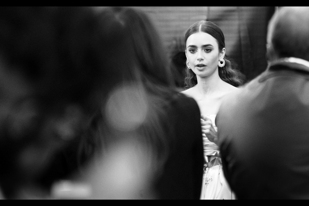 """… and I suppose all of you want some combination of Signature, Selfie, or Both from me? Well, what about Me? What about what I NEED?""  - true to her pleasant nature, Lily Collins did not demand anybody's autograph or a photo with her in return for her generosity."