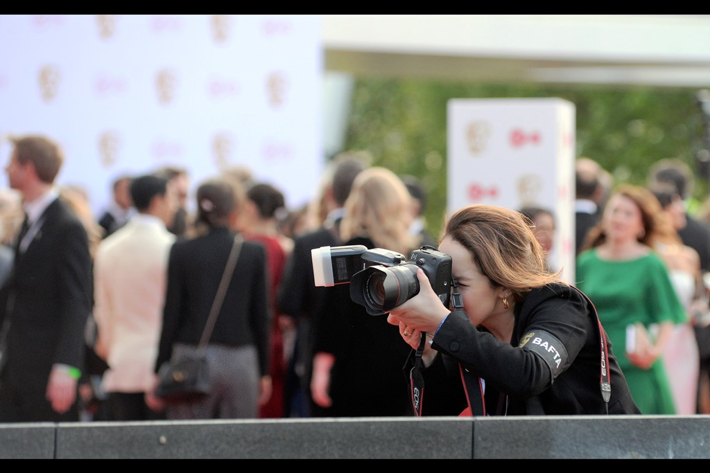 …I like the professional Bafta photographer on the red carpet across from us. Maybe I'm an okay photographer… but I guarantee you I do not look this cool when I'm taking photos.