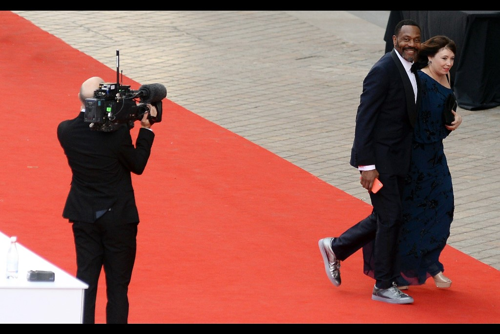 """Yes, please do check out my silver sneakers. And you will remember to edit in a bit of motion blur just to show off how speedy they make me look, right?""  - Sir Lenny Henry."
