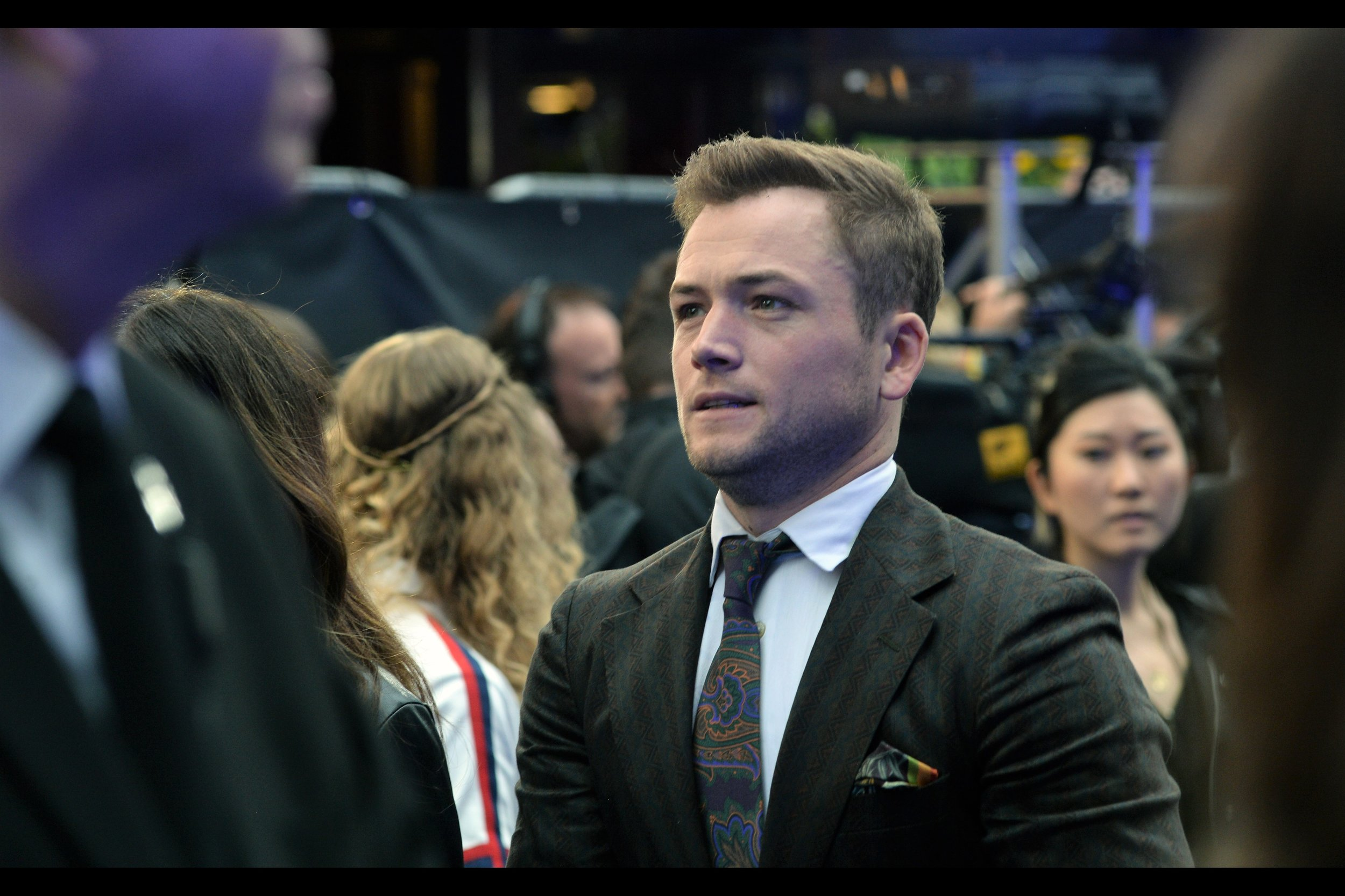 """Oh, no. I don't think our hair-colour is going to be in sync for this premiere….. like… at all""  - Taron Egerton plays Elton John in the movie."
