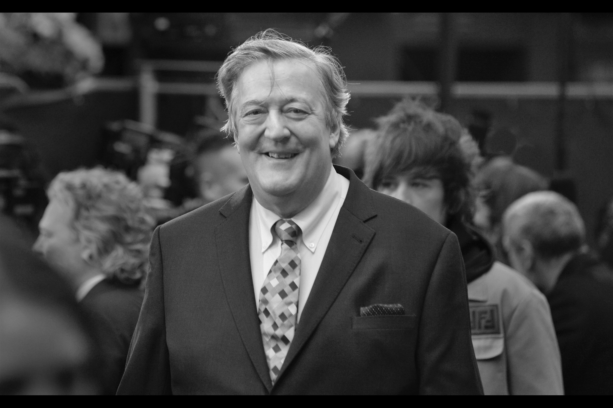 Writer/Presenter/Actor Stephen Fry - host of multiple Bafta ceremonies, he was also the Cheshire Cat in the live-action Alice In Wonderland, the Master of Laketown in two of The Hobbit movies AND was in one of my favourite movies V for Vendetta. His tie features colours you wouldn't believe, so I turned it down.