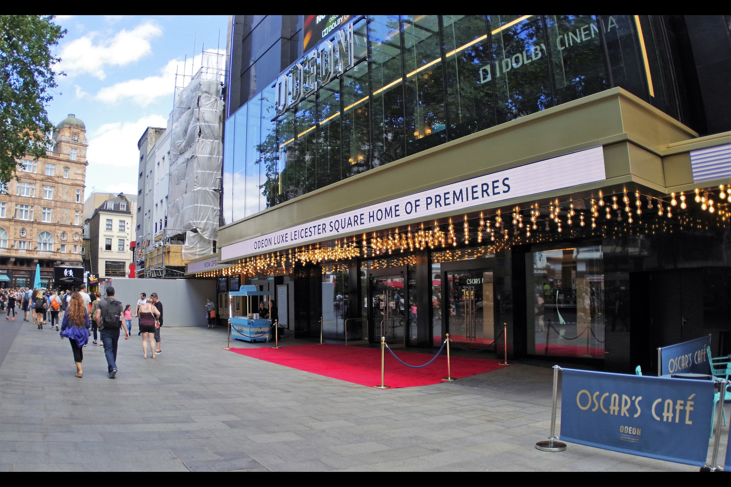 The Odeon Luxe is the self-proclaimed 'Home of Premieres' - but don't let the marquee and the red carpet and the velvet ropes fool you - the event in question is meant to take place at The Cineworld, not Odeon..