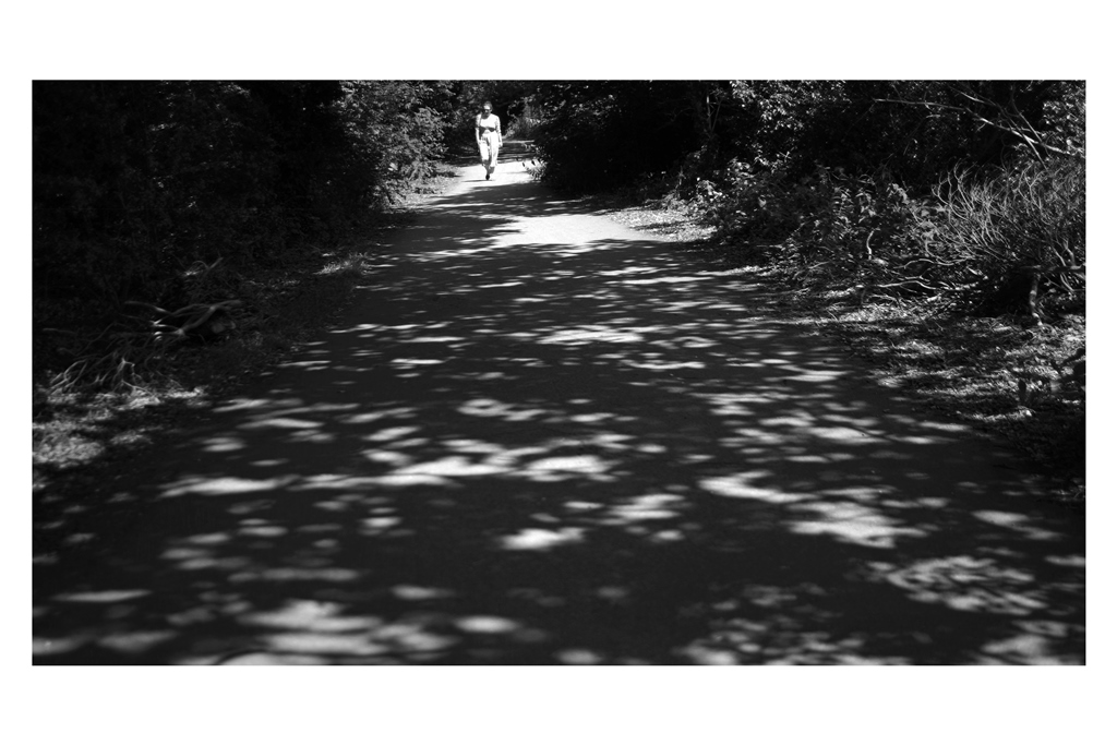 16. THE ALBAN WAY.  The Alban Way is a walking track that (vaguely) connects St Albans Abbey Station and St Albans City Station - I liked the mottled shadows and figured I'd take a shot of the path (rather than a view FROM the path)… I just think this isn't as good a shot as it could have been.  On reflection : should've used the fisheye and found a better composition that looked a bit more atmospheric.