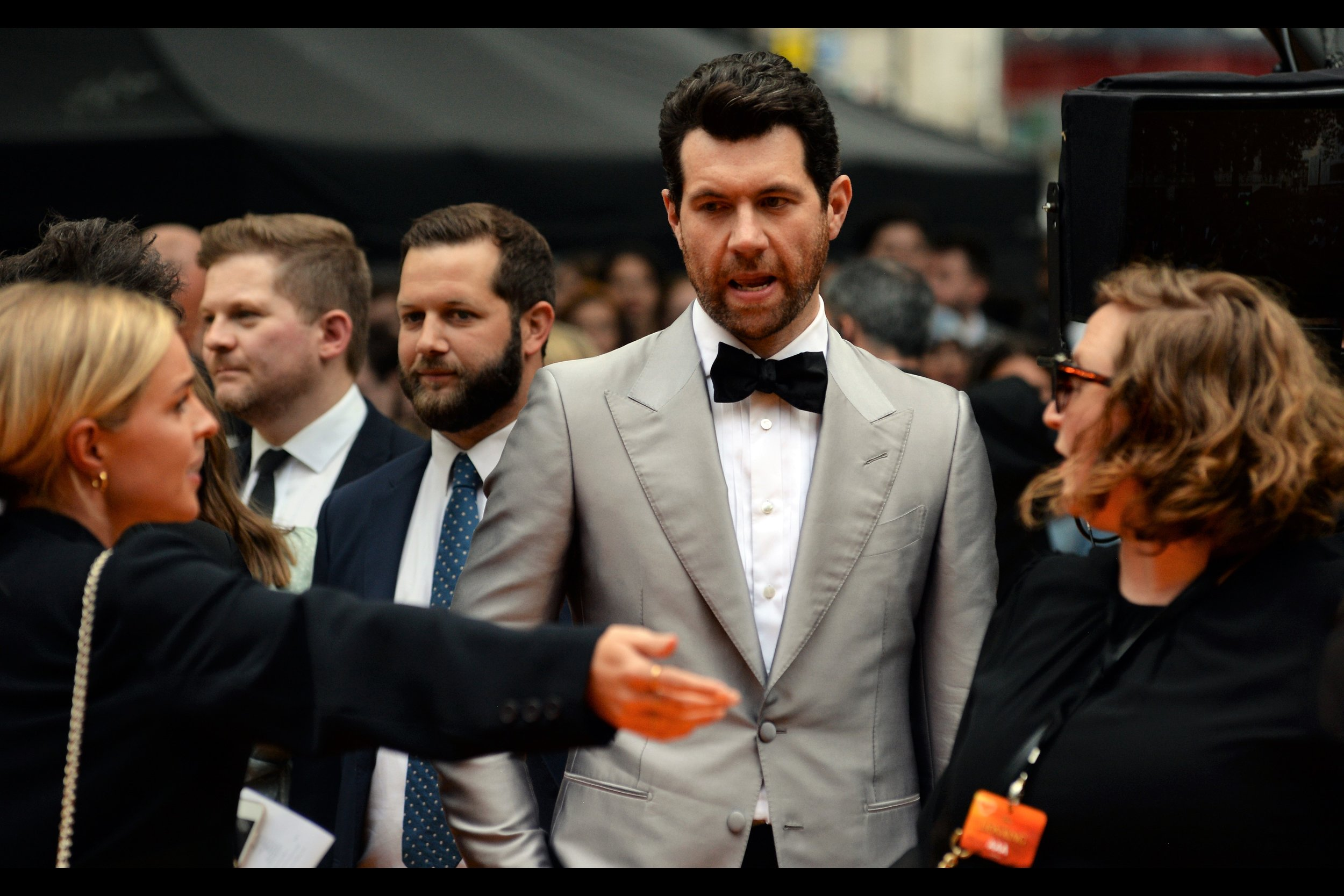 """You didn't have to write the answers to the questions they're about to ask me on your hand. I don't think they'll be THAT hard….""  Comedian Billy Eichner plays the role of the meerkat Timon in the film."
